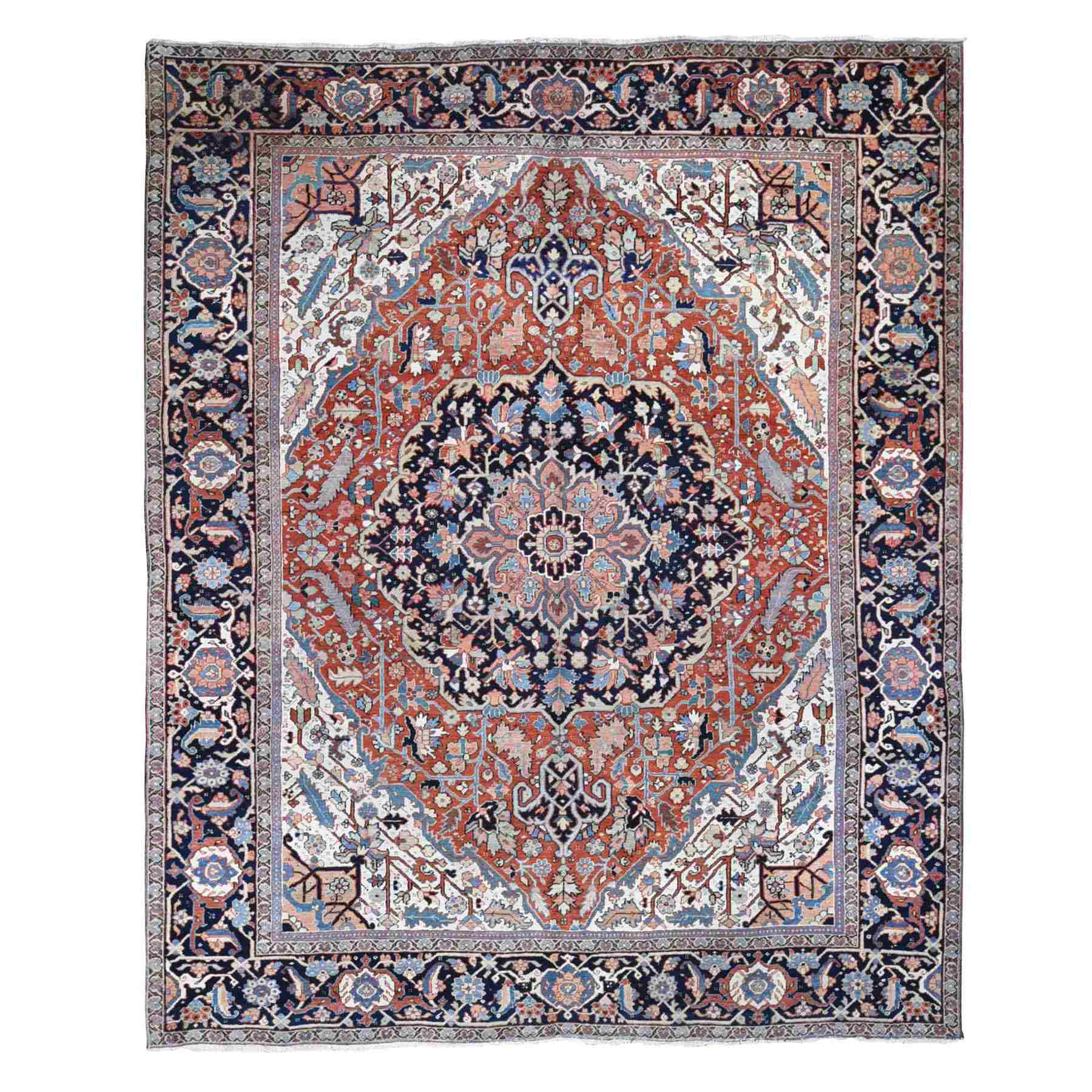 Antique Collection Hand Knotted Red Rug No: 1118576