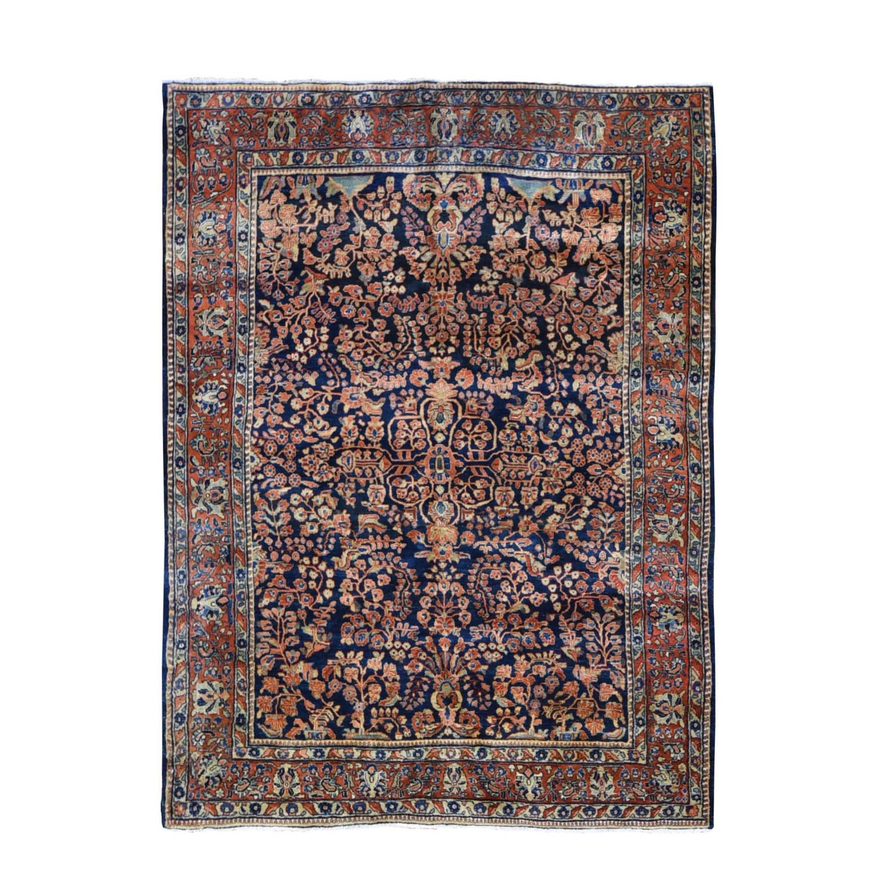 Antique Collection Hand Knotted Blue Rug No: 01118588