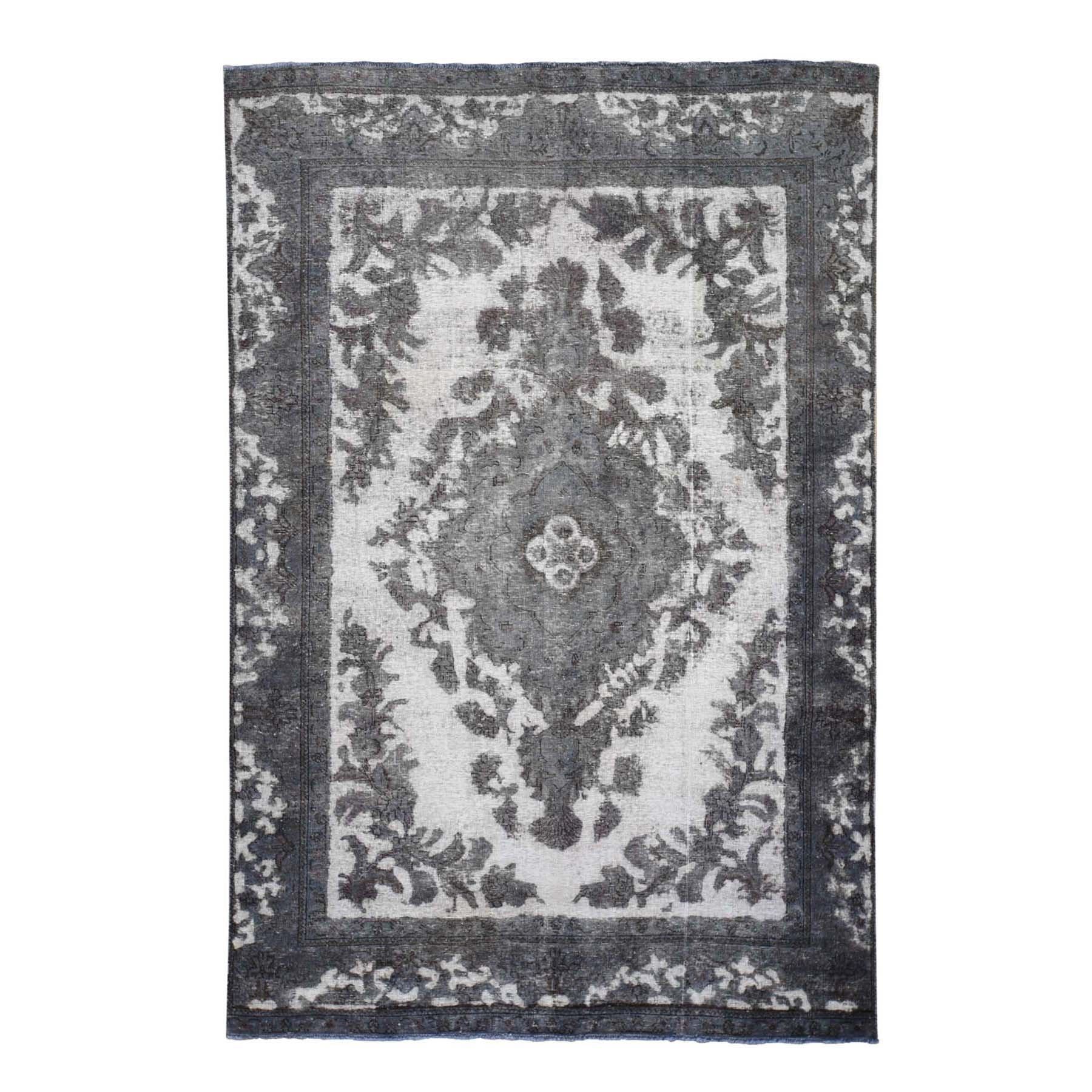 Fetneh Collection And Vintage Overdyed Collection Hand Knotted Ivory Rug No: 01118592