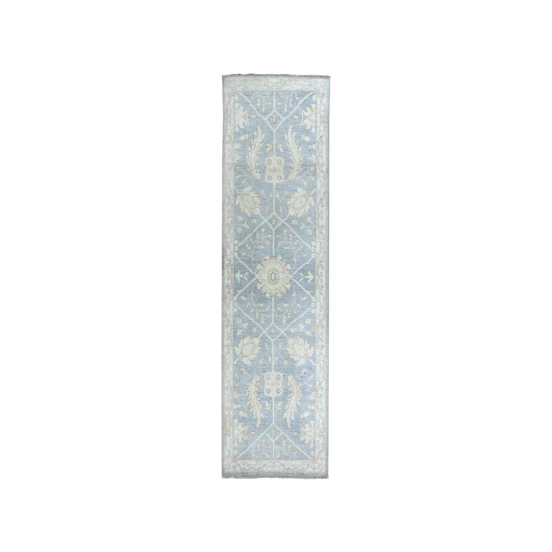 Agra And Turkish Collection Hand Knotted Grey Rug No: 01101576