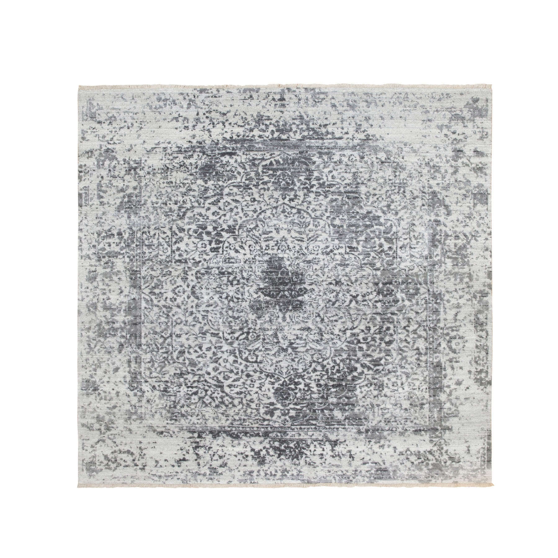 Transitional Hand Knotted Grey Rug No: 1116814
