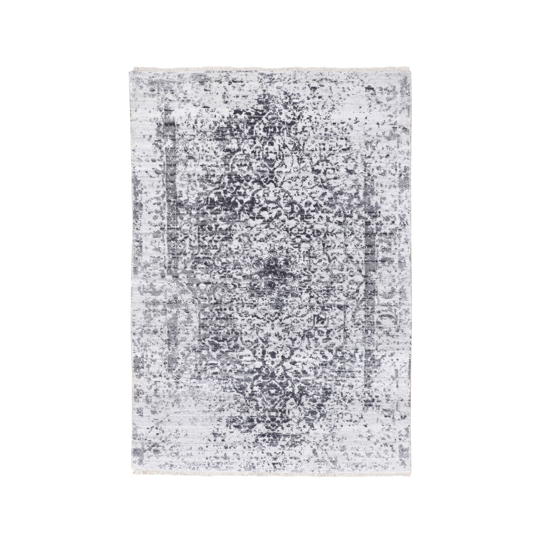 Transitional Hand Knotted Grey Rug No: 1116832