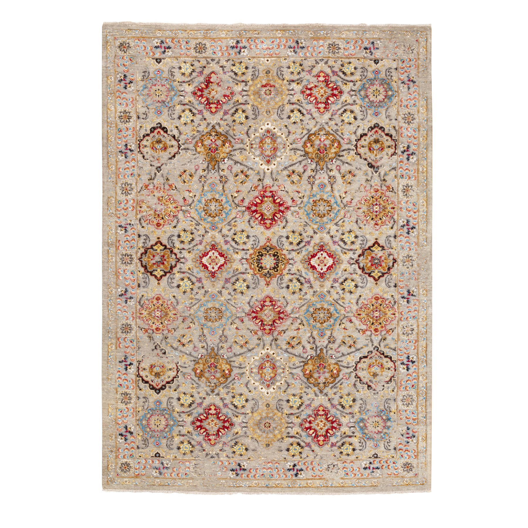 Transitional Hand Knotted Grey Rug No: 1116878