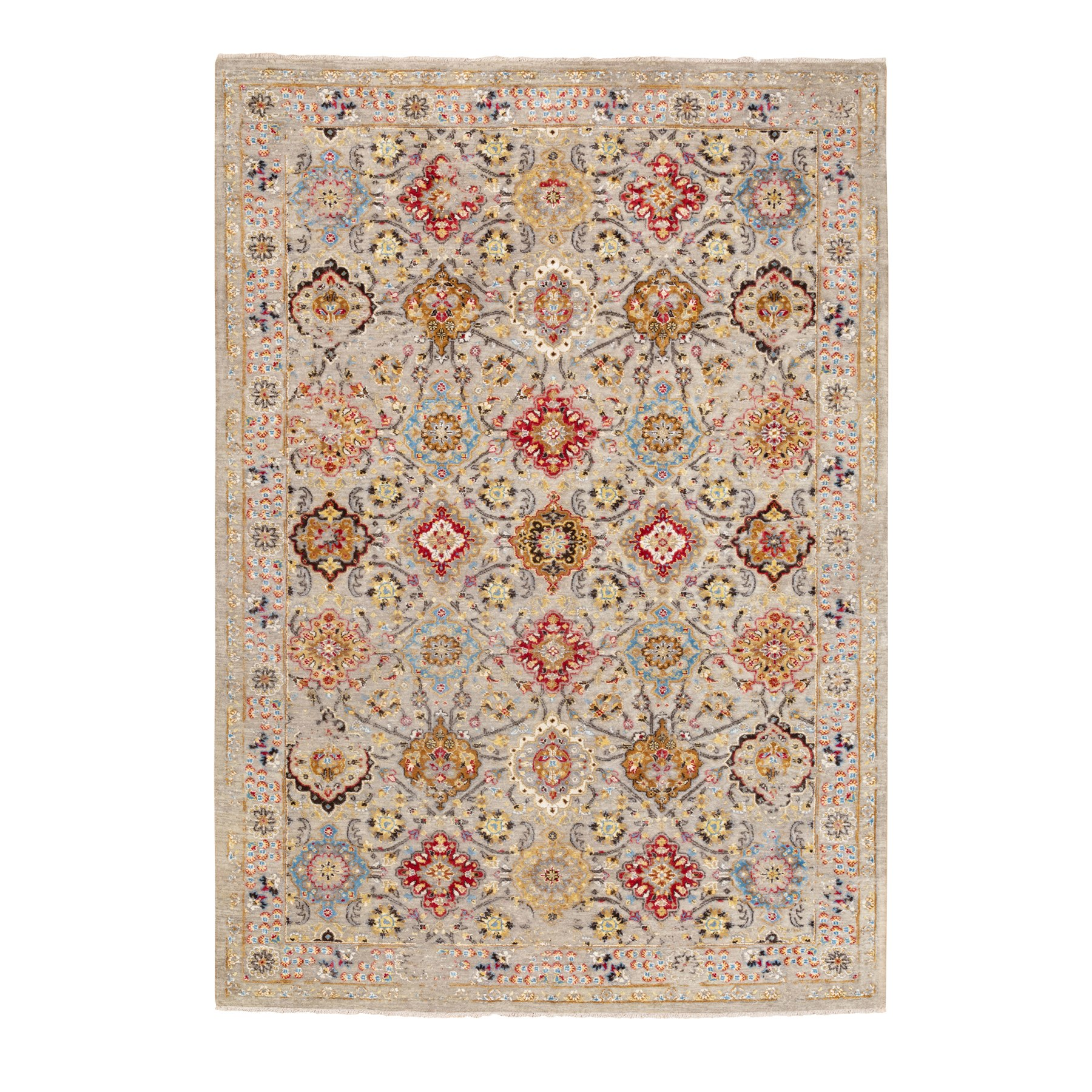 Transitional Hand Knotted Grey Rug No: 1116886