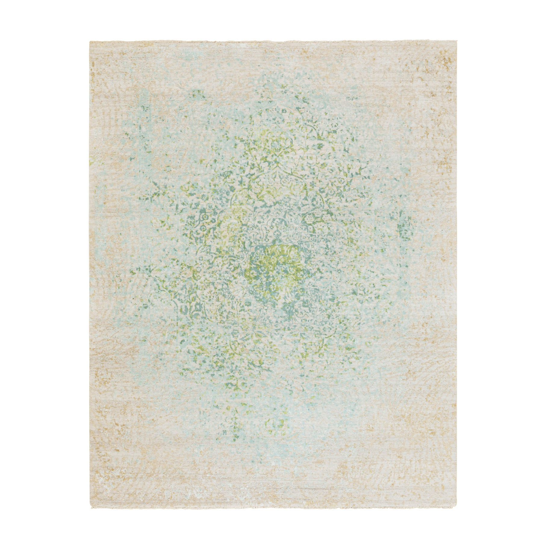 Wool and Real Silk Collection Hand Knotted Beige Rug No: 1116812