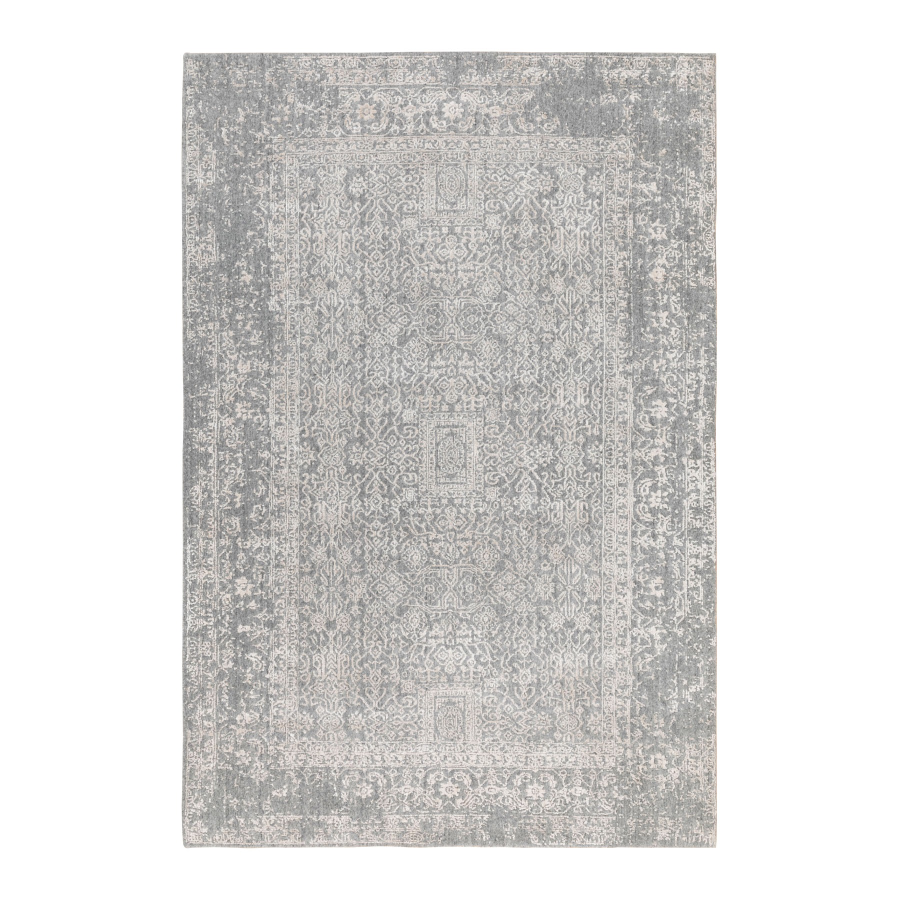 Mid Century Modern Collection Hand Loomed Grey Rug No: 01116818