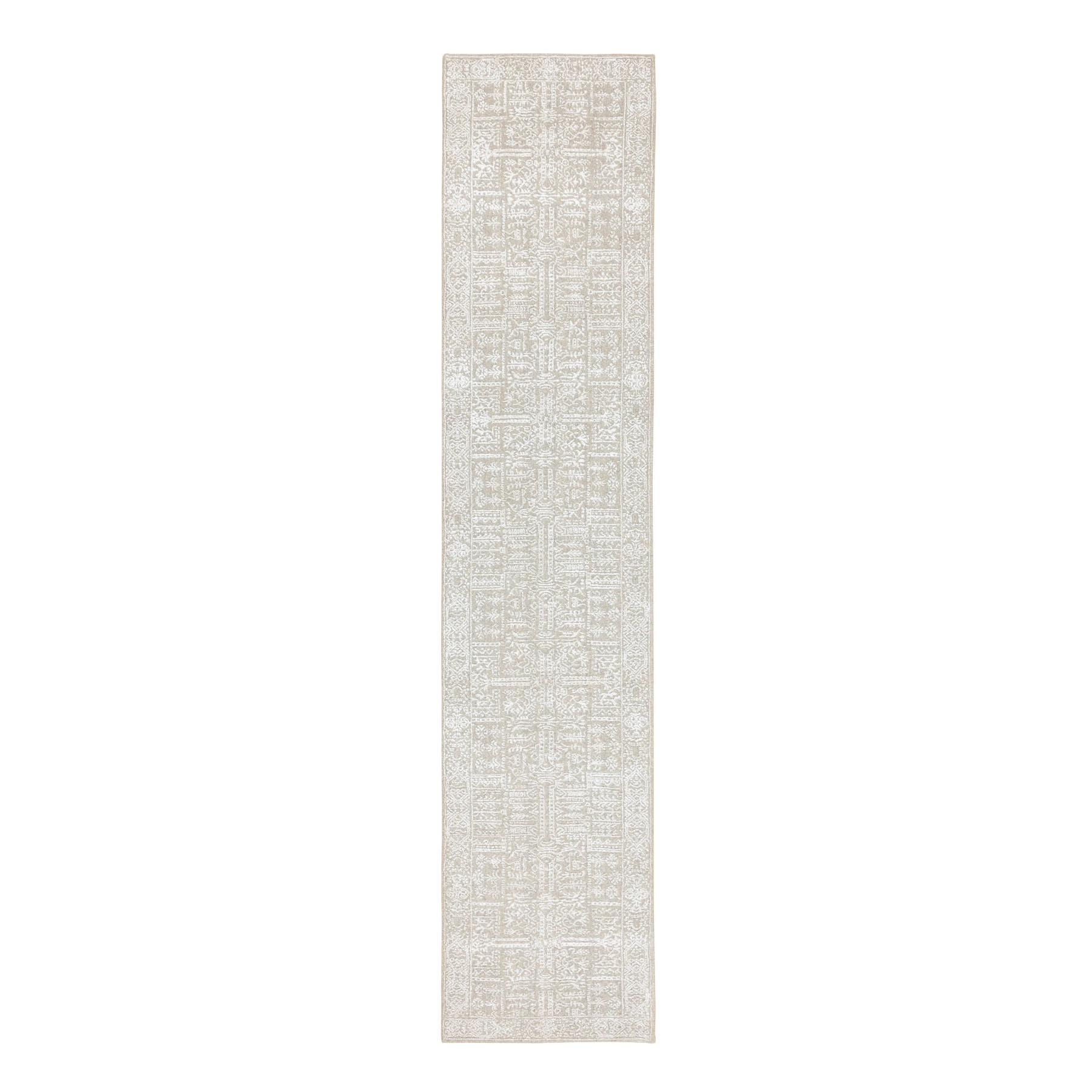 Mid Century Modern Collection Hand Loomed Ivory Rug No: 1116834