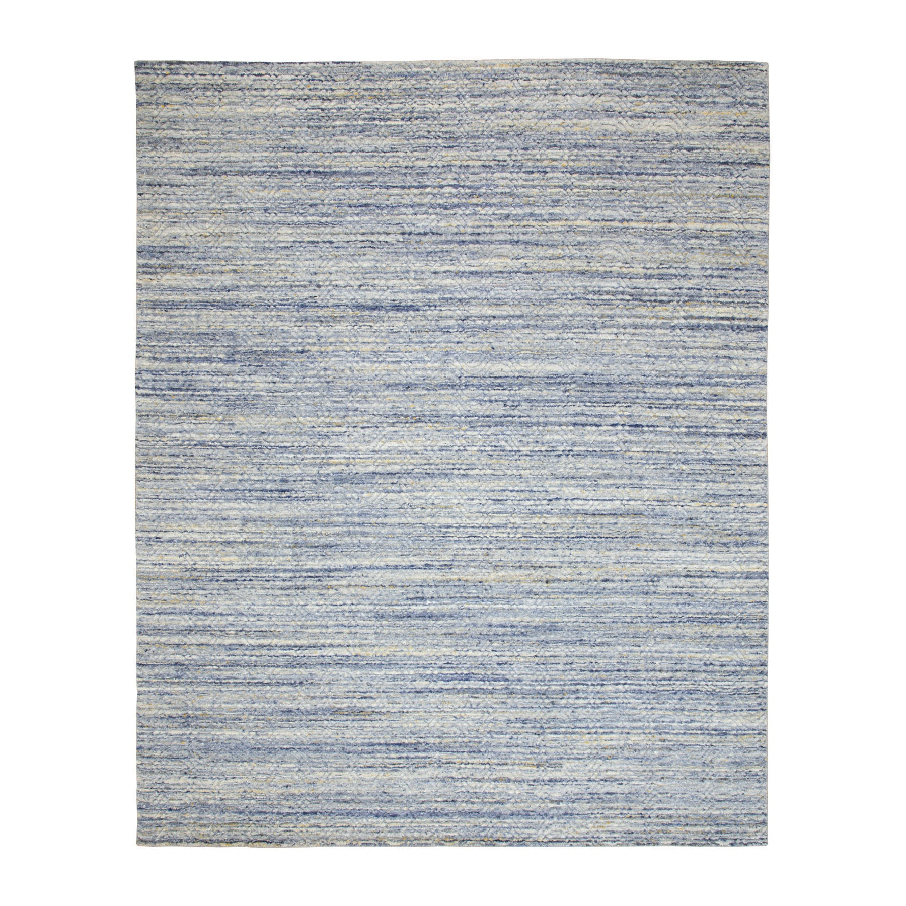 Mid Century Modern Collection Hand Loomed Blue Rug No: 01116784