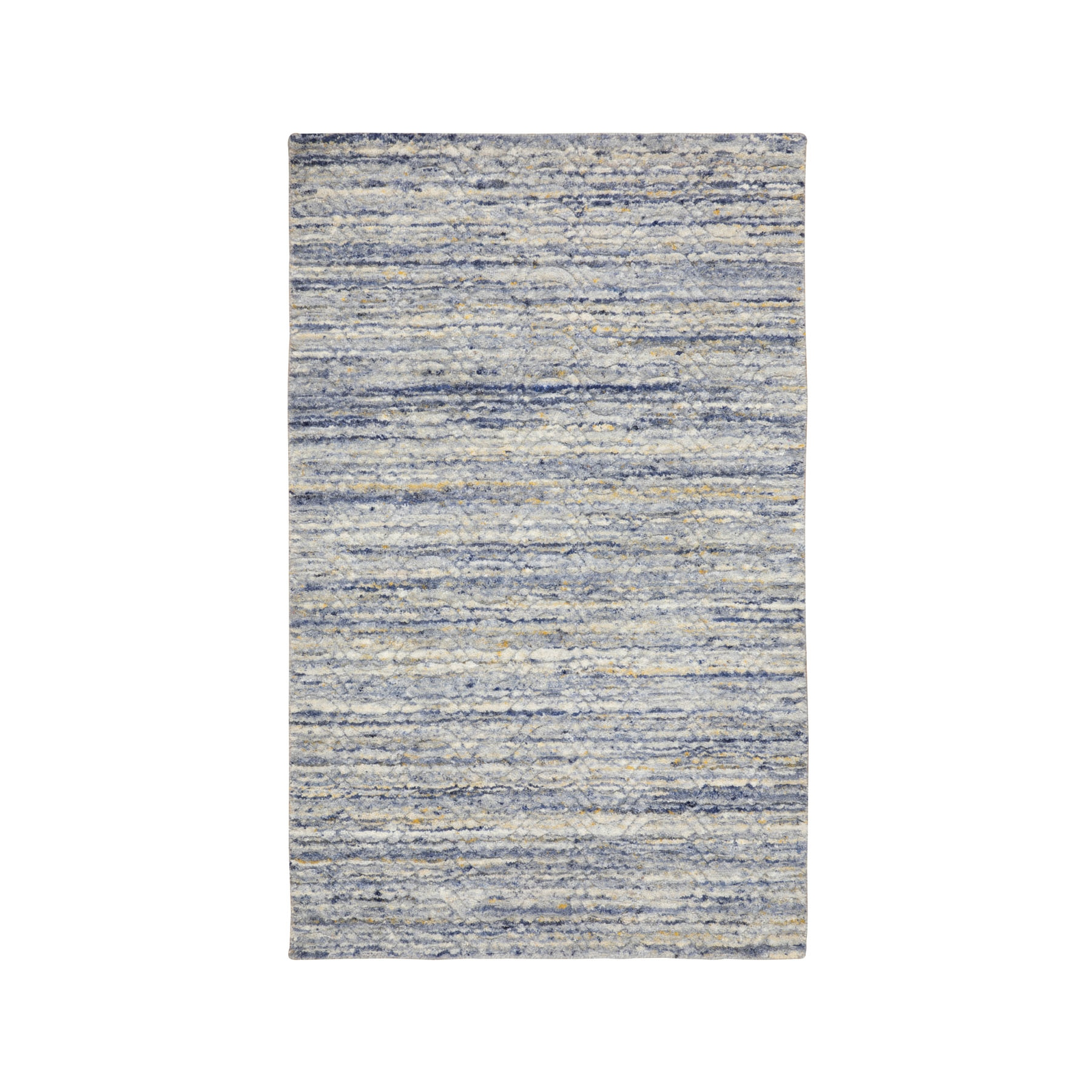 Mid Century Modern Collection Hand Loomed Grey Rug No: 1116790