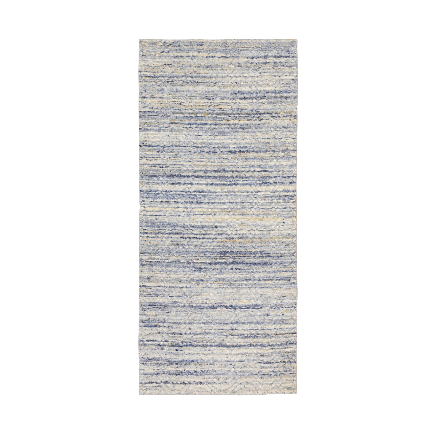 Mid Century Modern Collection Hand Loomed Grey Rug No: 01116802