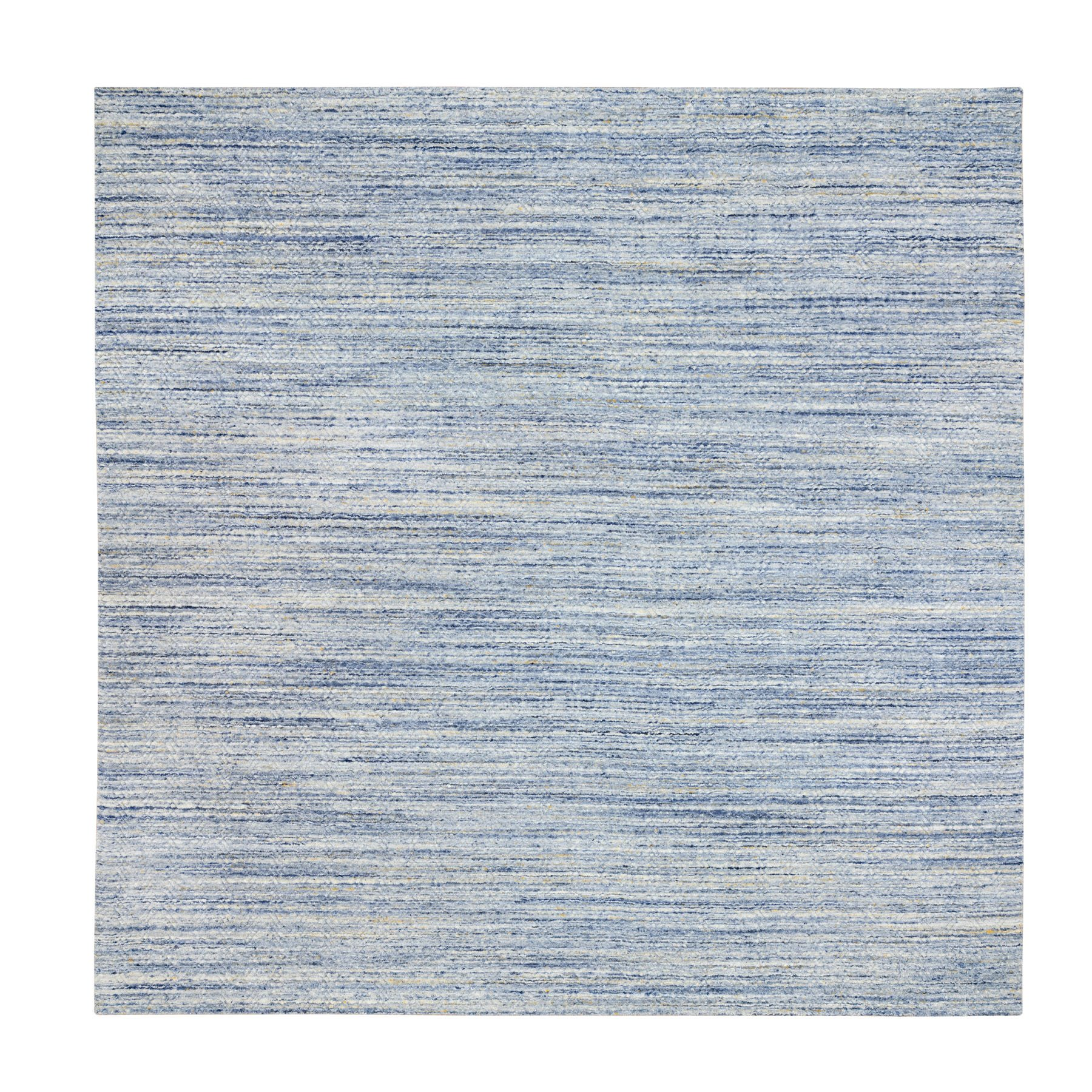 Mid Century Modern Collection Hand Loomed Blue Rug No: 1116850