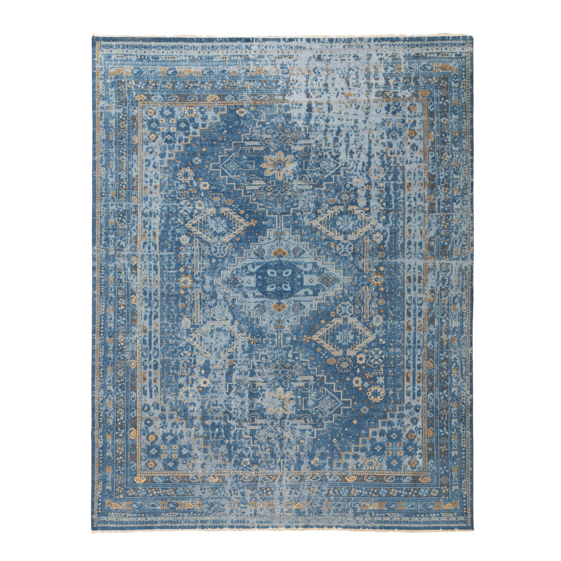 Mid Century Modern Collection Hand Knotted Grey Rug No: 1116860