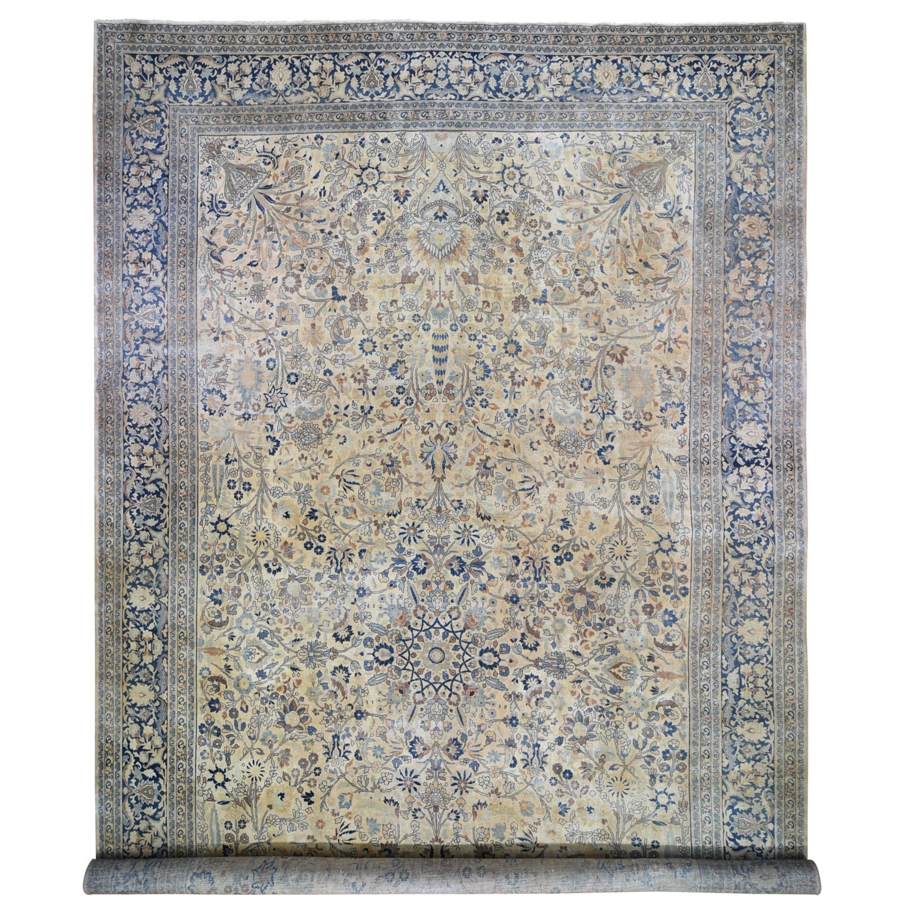 Antique Collection Hand Knotted Yellow Rug No: 01118610