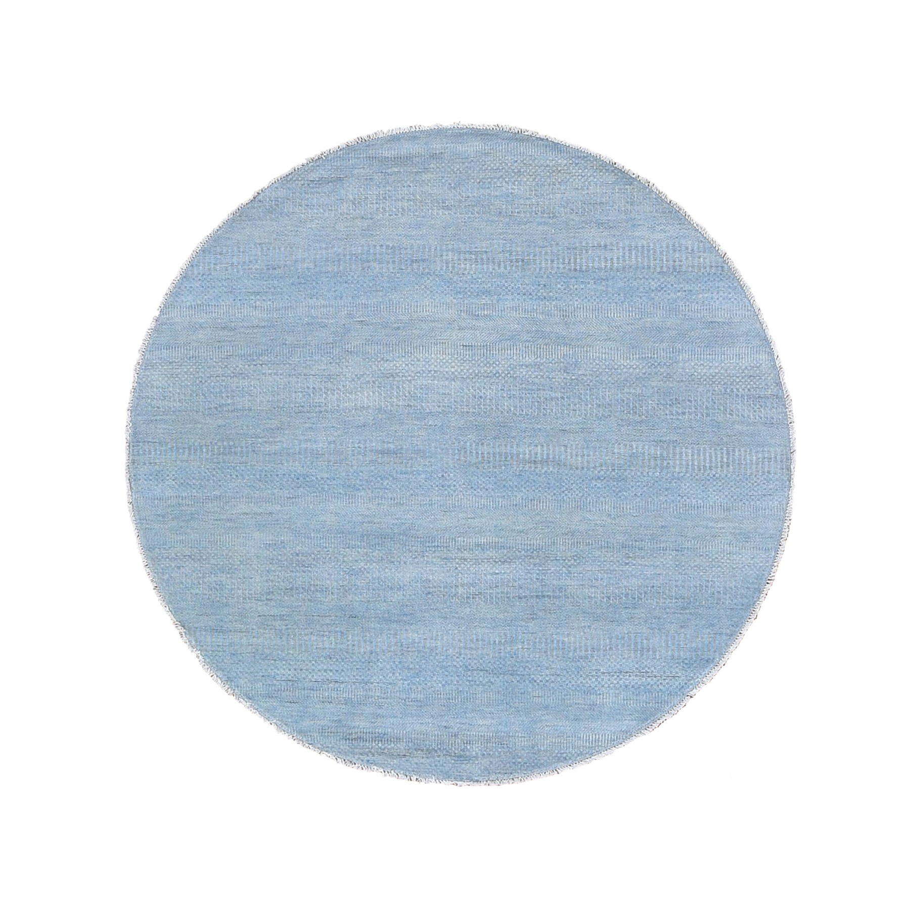 Mid Century Modern Collection Hand Knotted Blue Rug No: 1118636