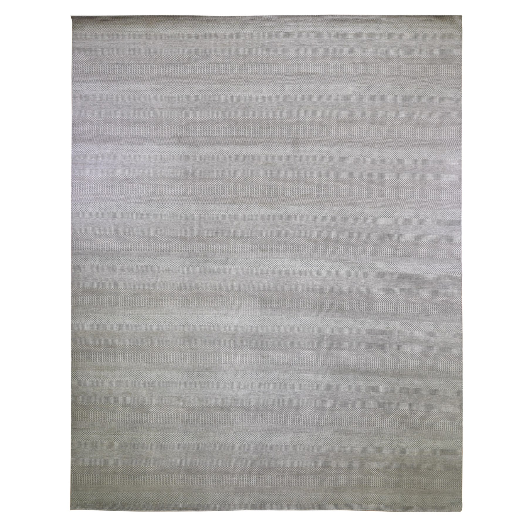 Mid Century Modern Collection Hand Knotted Brown Rug No: 1118638