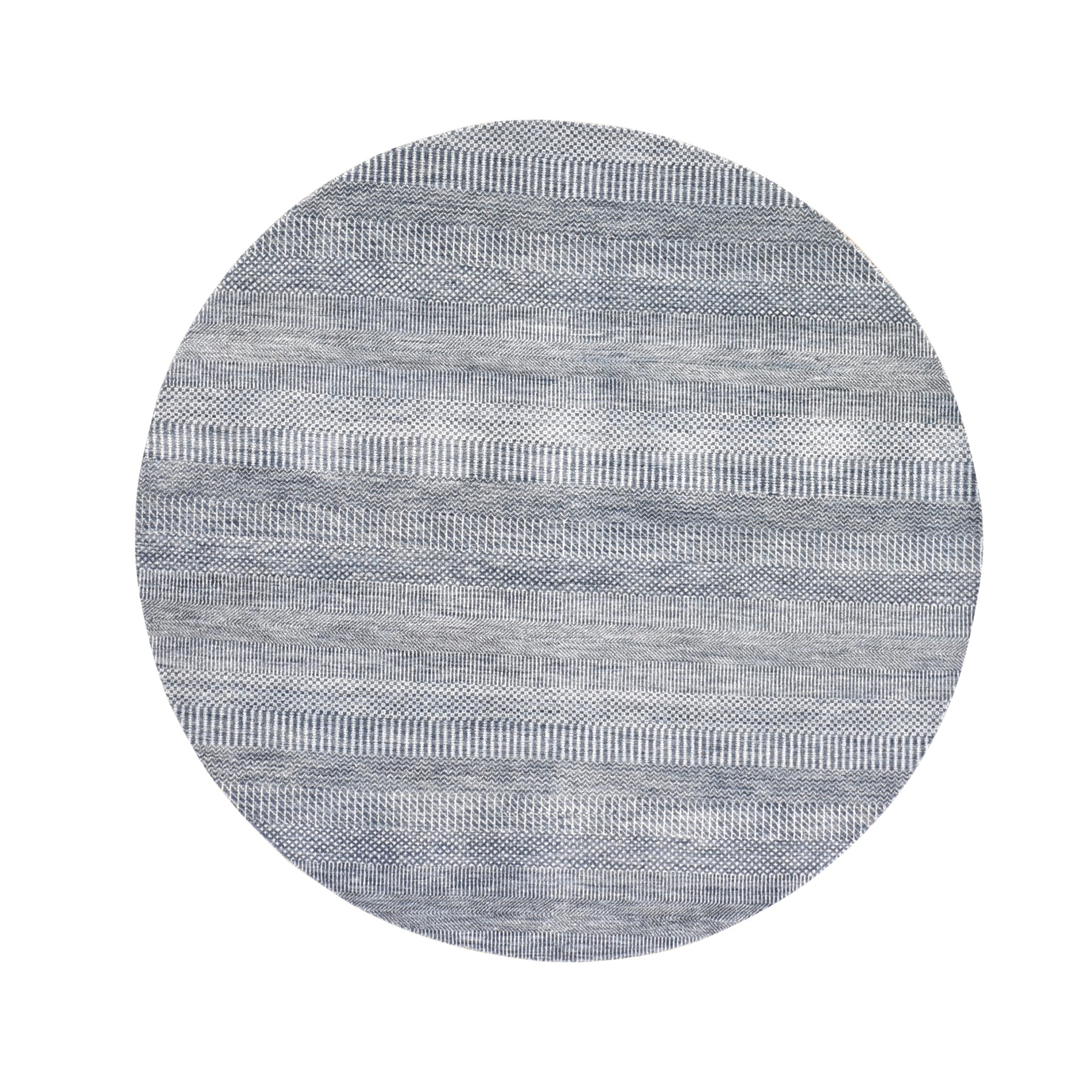Mid Century Modern Collection Hand Knotted Blue Rug No: 1118640