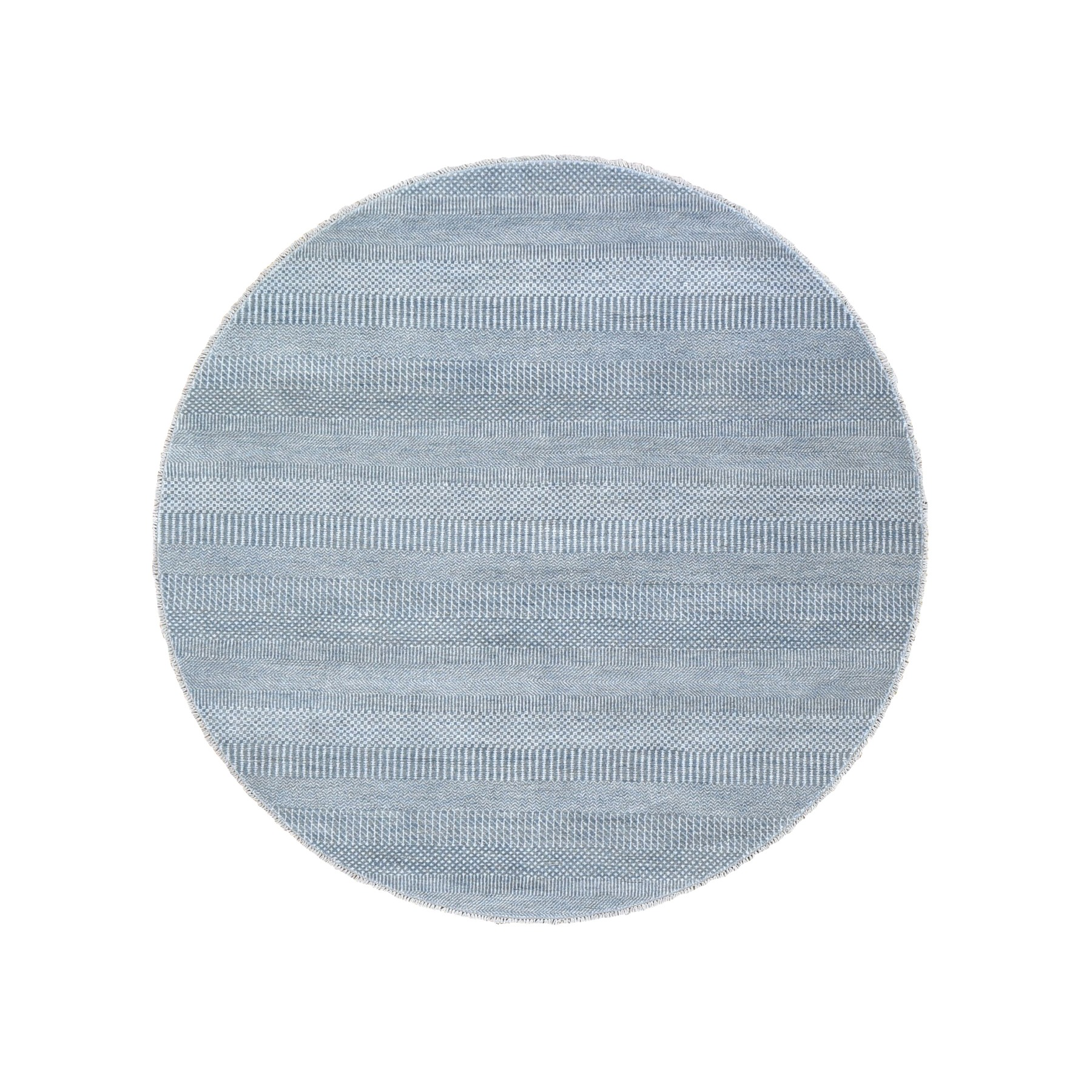 Mid Century Modern Collection Hand Knotted Grey Rug No: 1118644