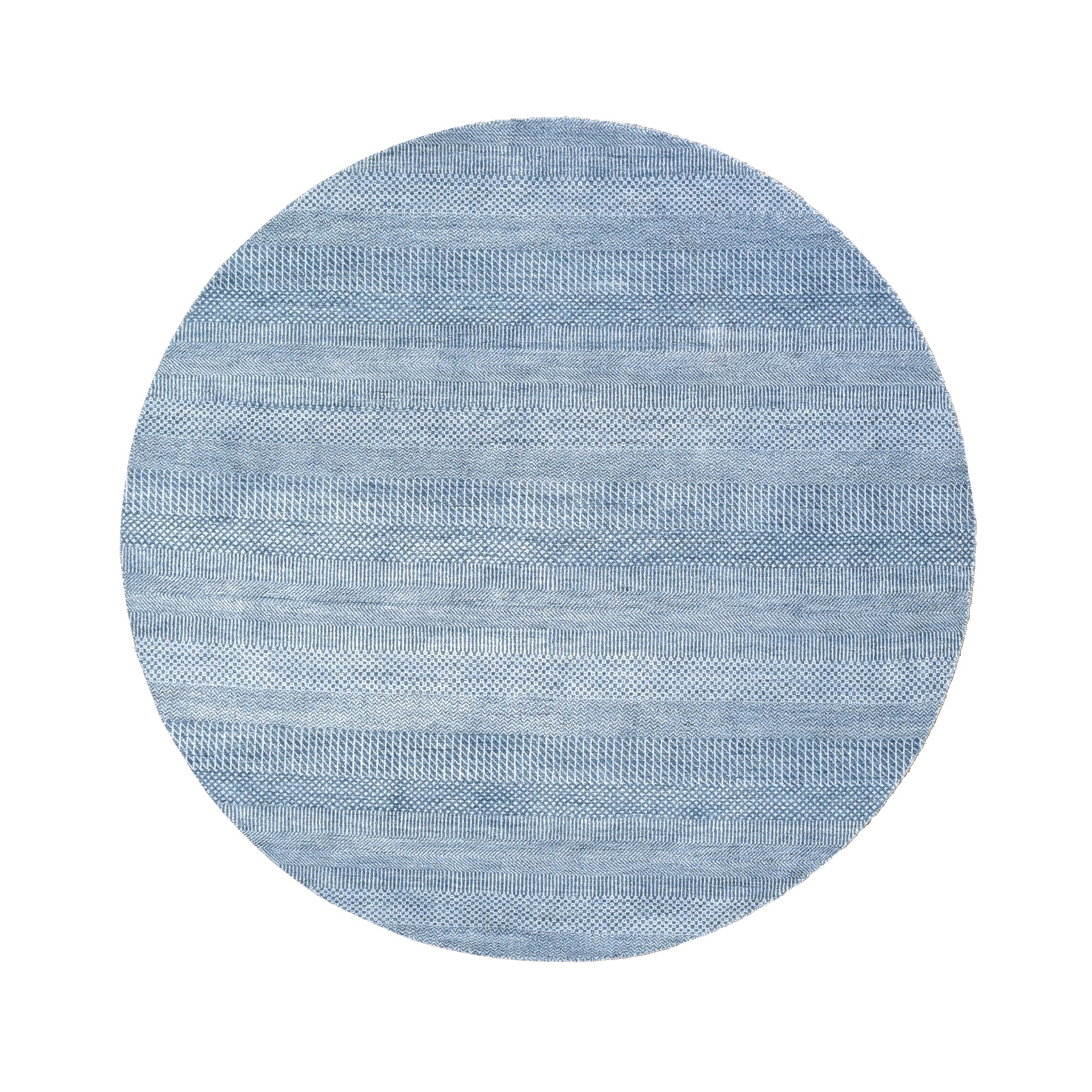 Mid Century Modern Collection Hand Knotted Blue Rug No: 1118650