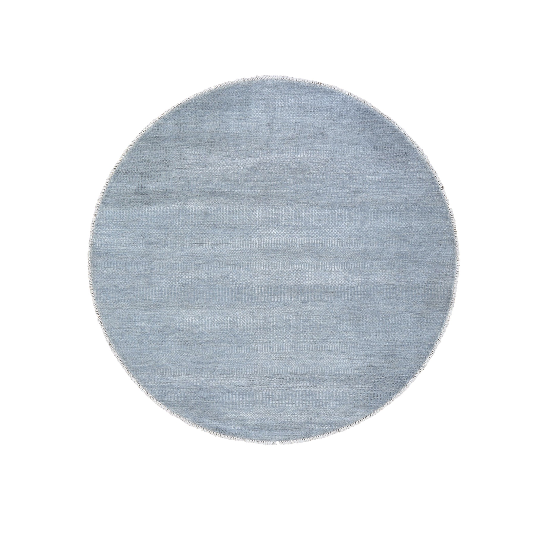 Mid Century Modern Collection Hand Knotted Grey Rug No: 1118652