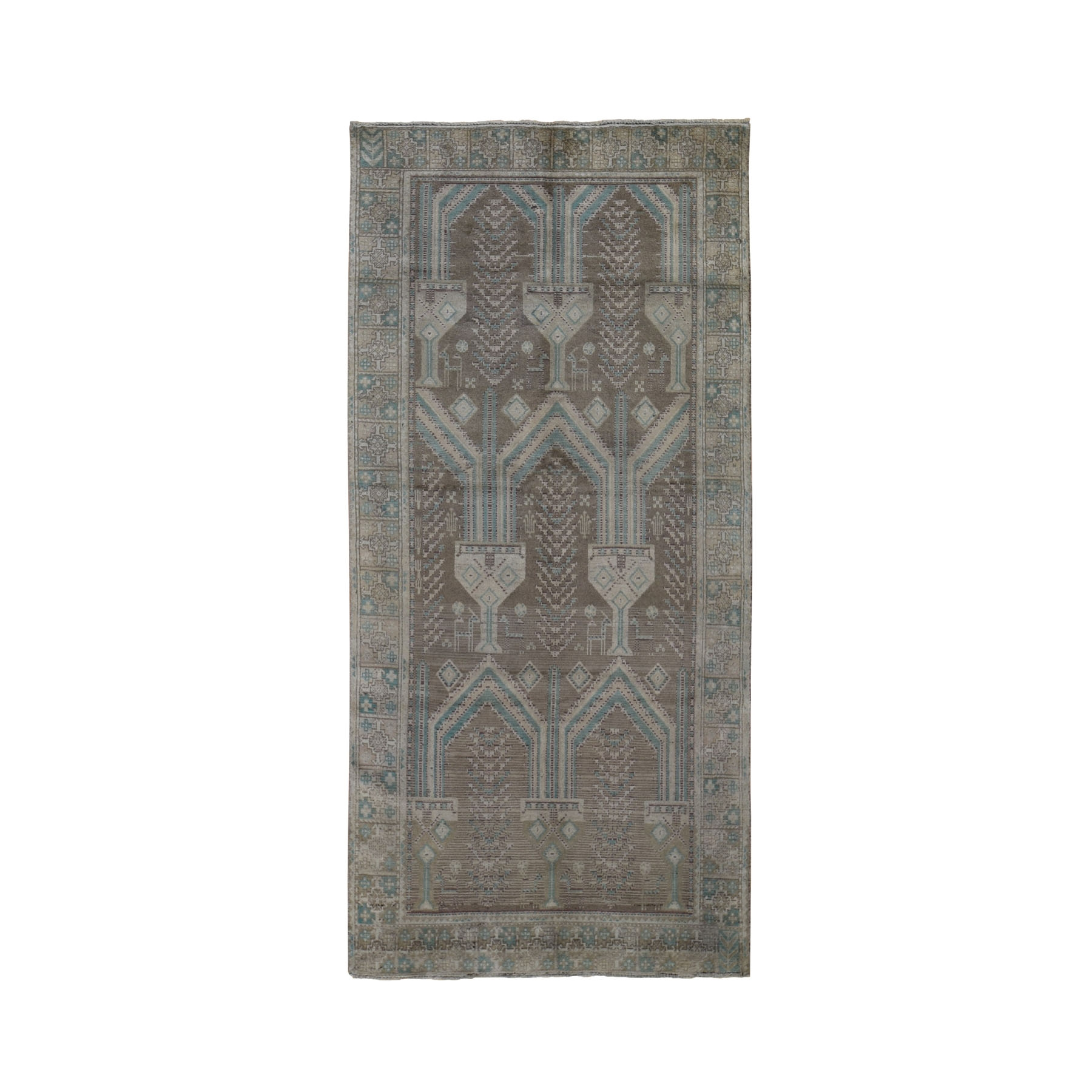 Nomadic And Village Collection Hand Knotted Grey Rug No: 199328