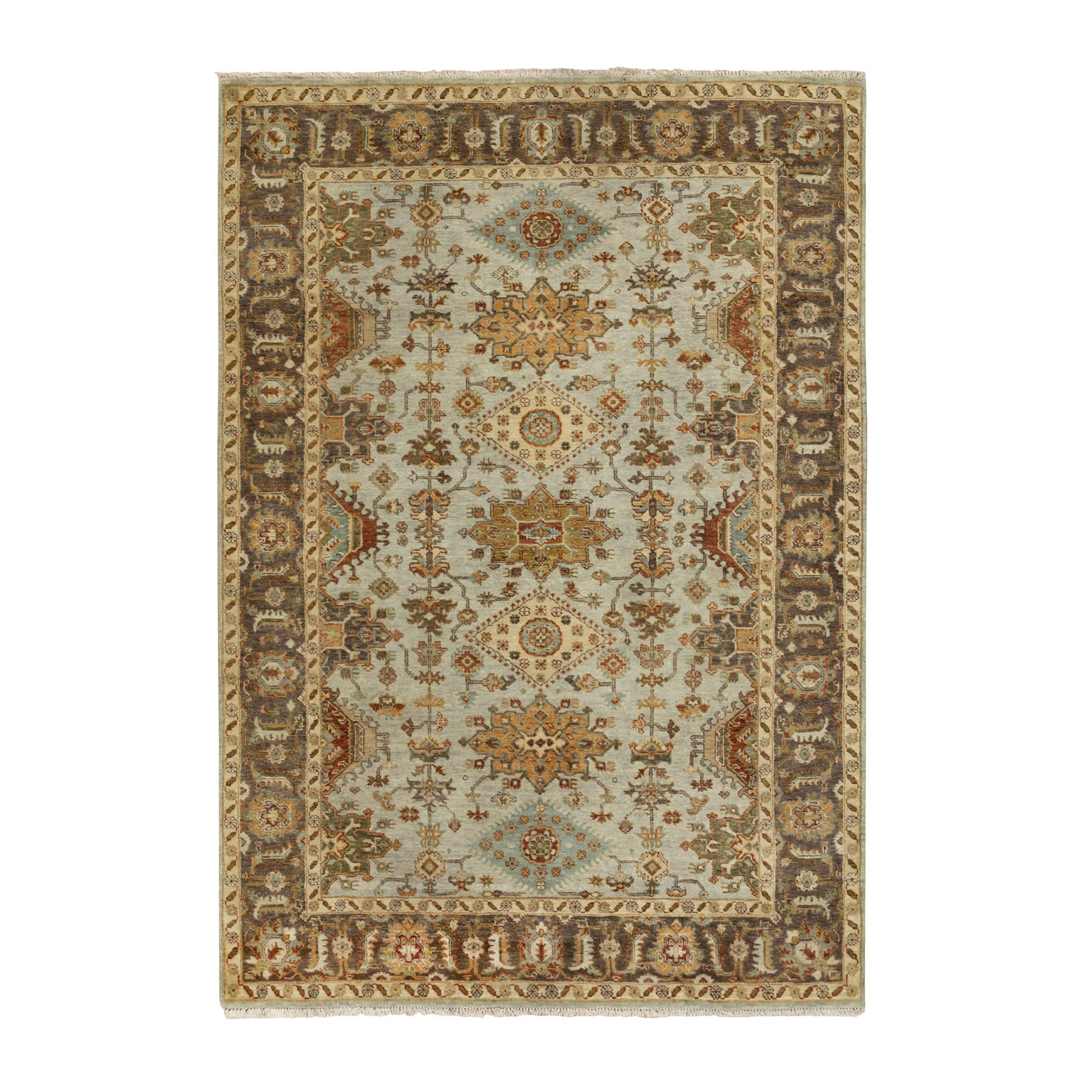 Serapi Heriz and Bakhshayesh Collection Hand Knotted Grey Rug No: 1116998