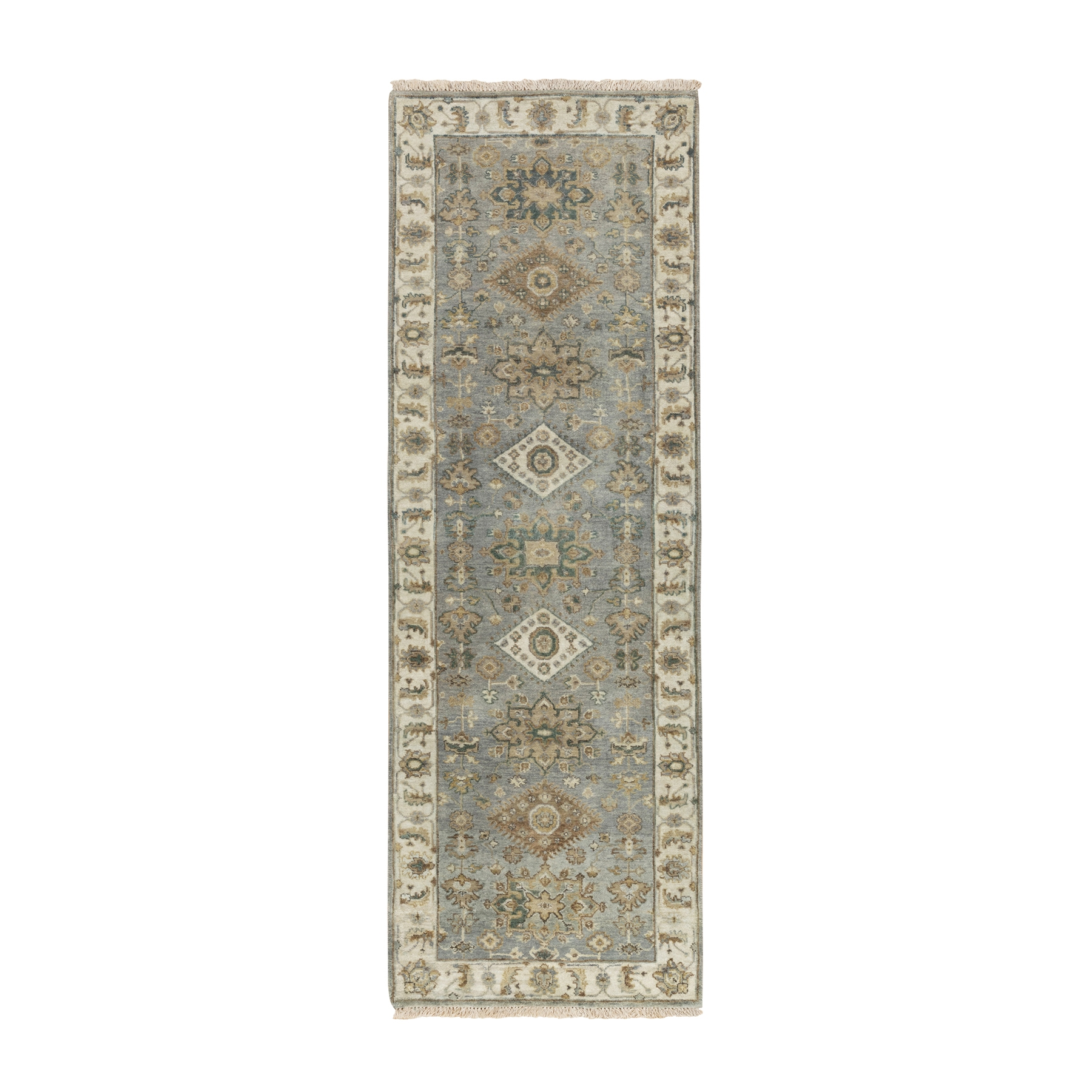 Serapi Heriz and Bakhshayesh Collection Hand Knotted Grey Rug No: 1117042