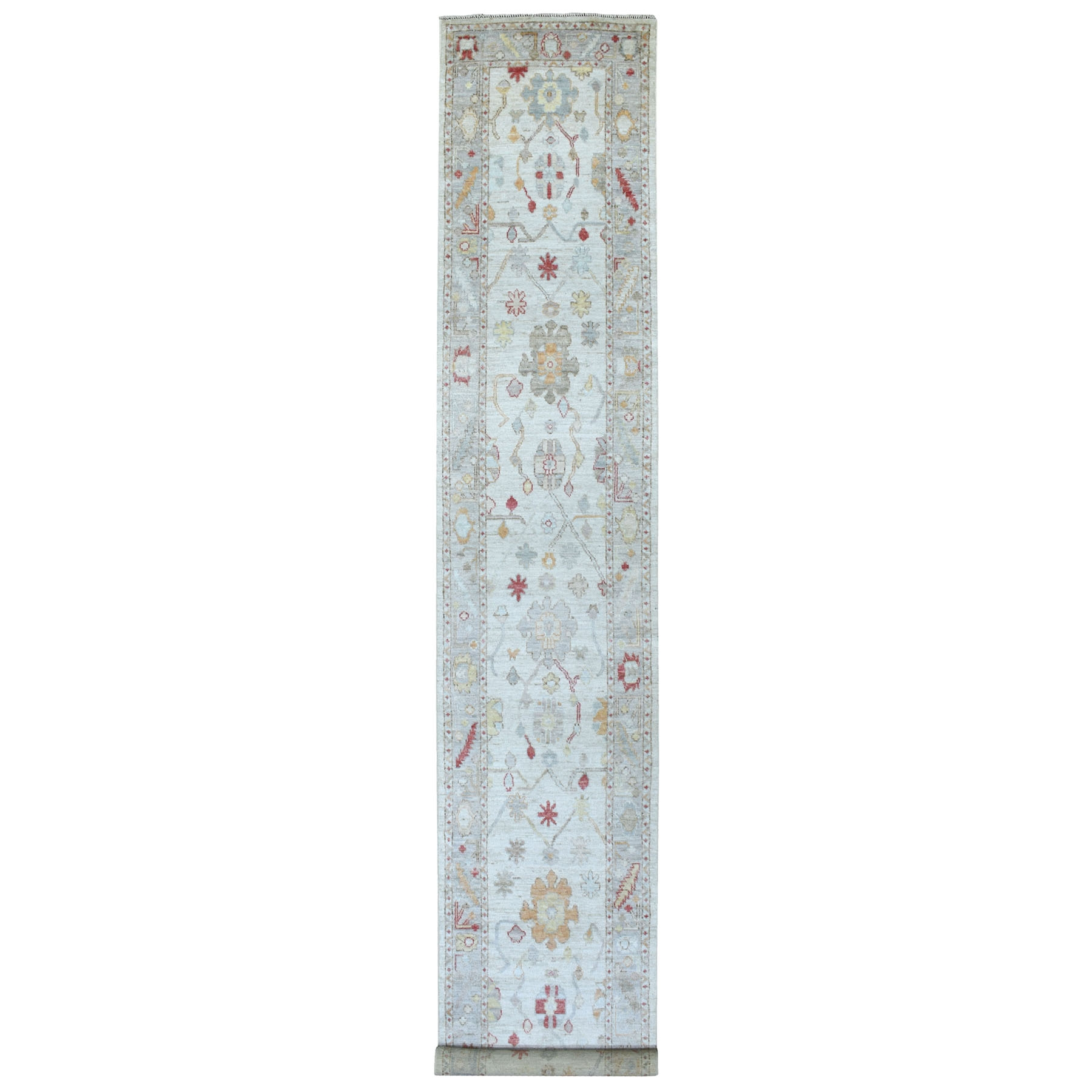 Agra And Turkish Collection Hand Knotted Grey Rug No: 1112240