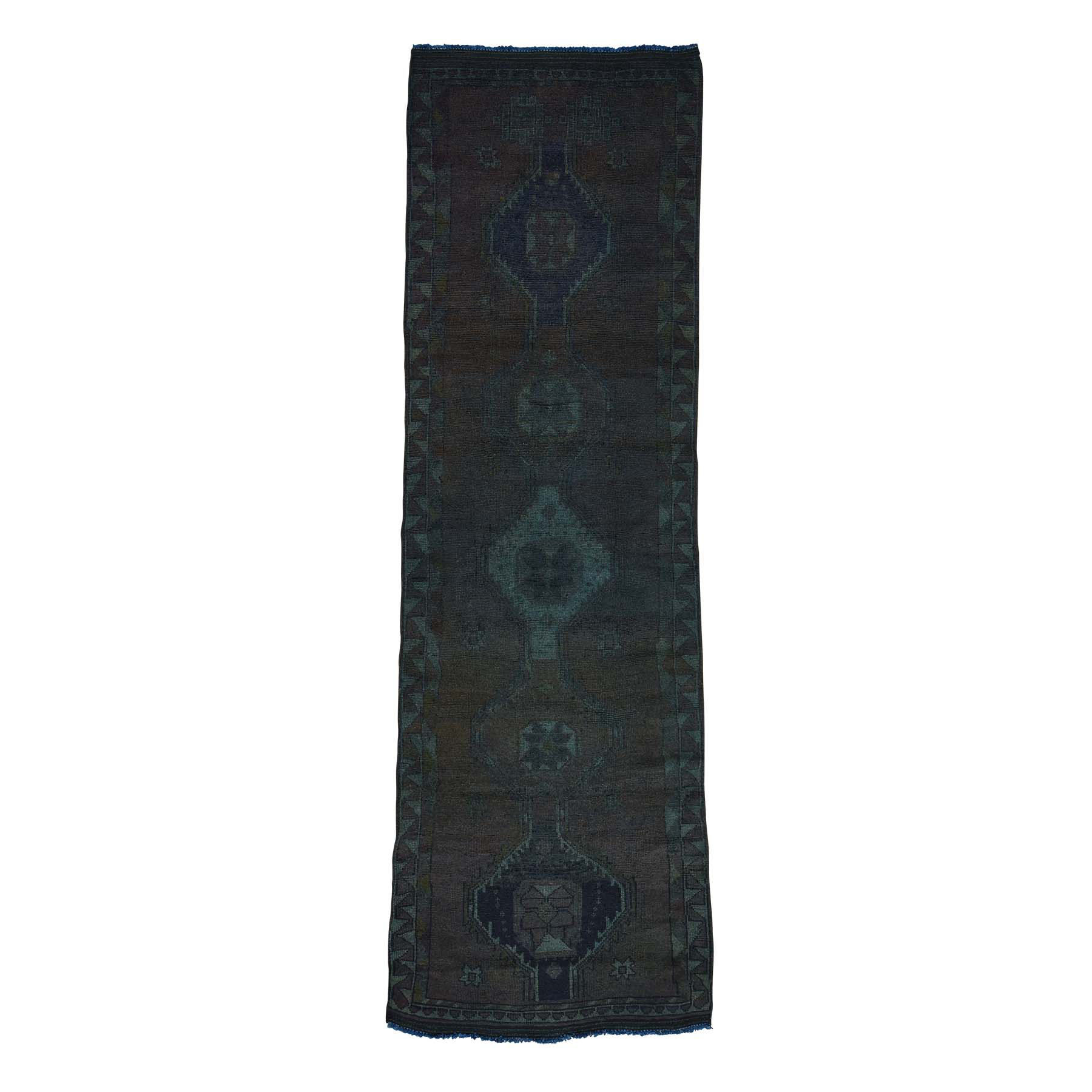 Fetneh Collection And Vintage Overdyed Collection Hand Knotted Grey Rug No: 0166002