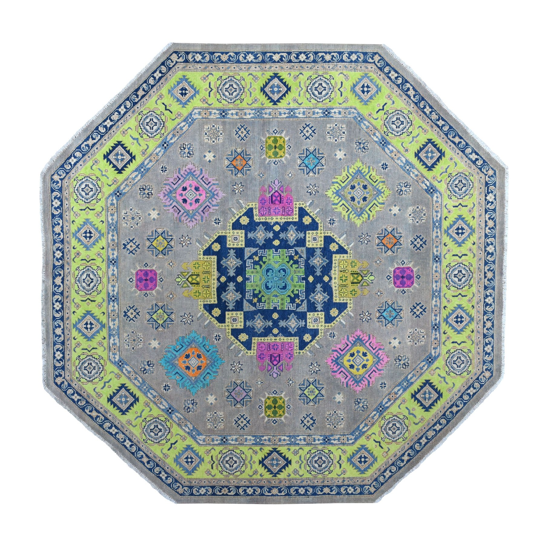 Caucasian Collection Hand Knotted Grey Rug No: 1110784