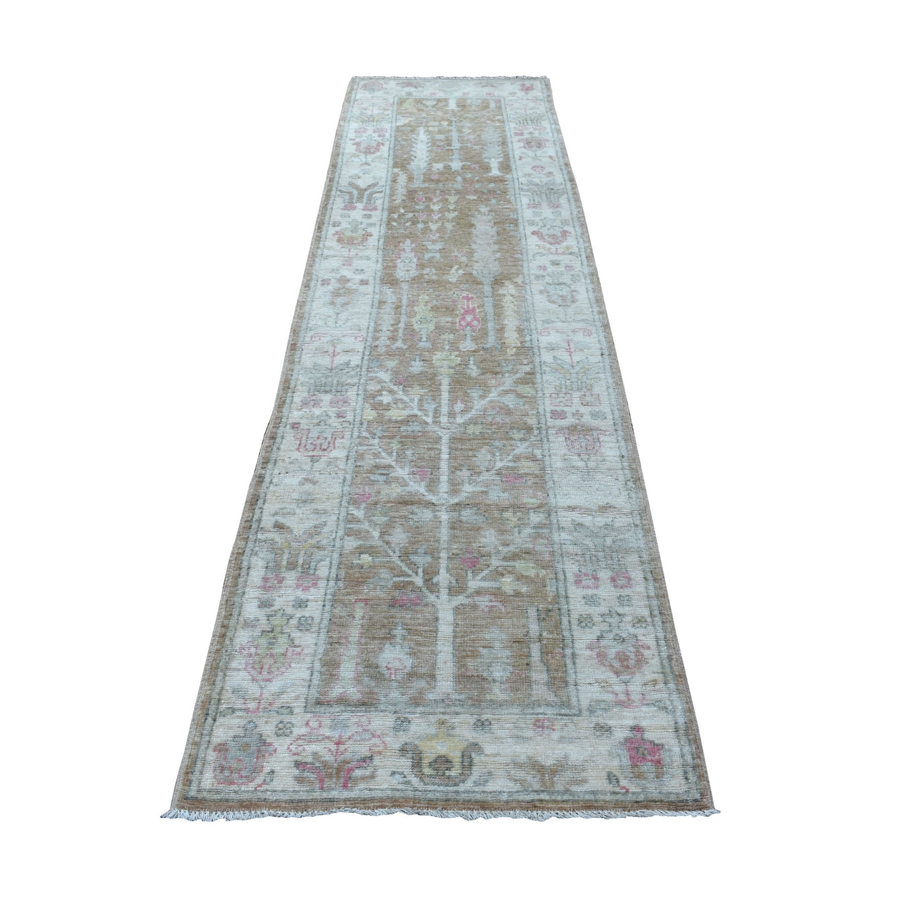 Agra And Turkish Collection Hand Knotted Brown Rug No: 1110774