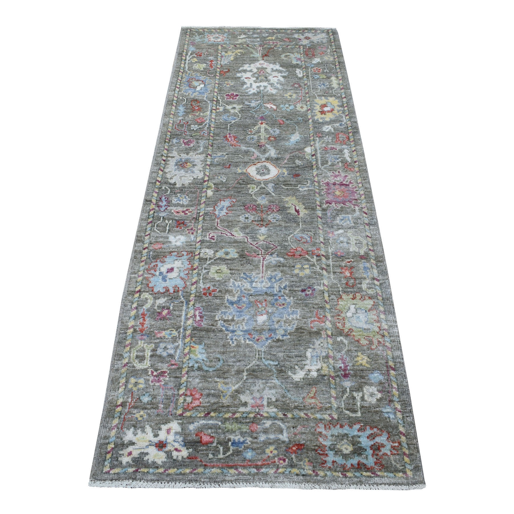 Agra And Turkish Collection Hand Knotted Brown Rug No: 1110894