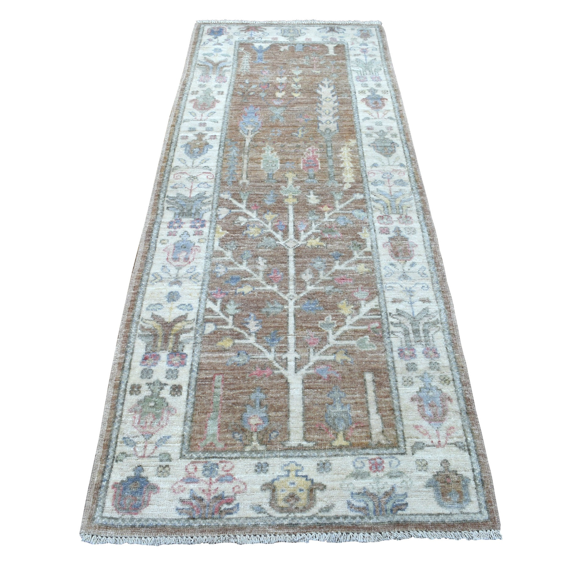 Agra And Turkish Collection Hand Knotted Brown Rug No: 1112452