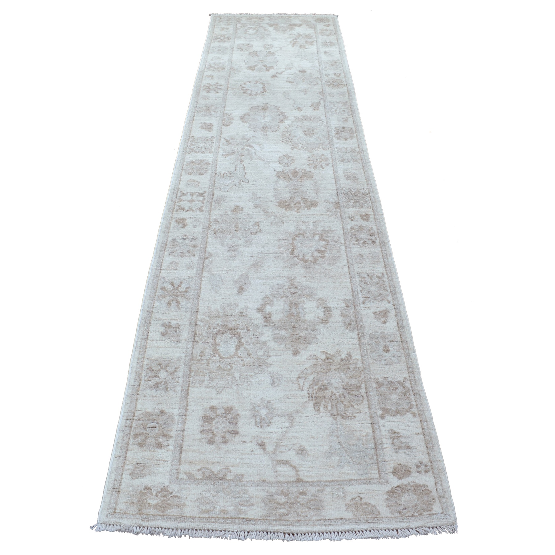 Agra And Turkish Collection Hand Knotted Beige Rug No: 1112242