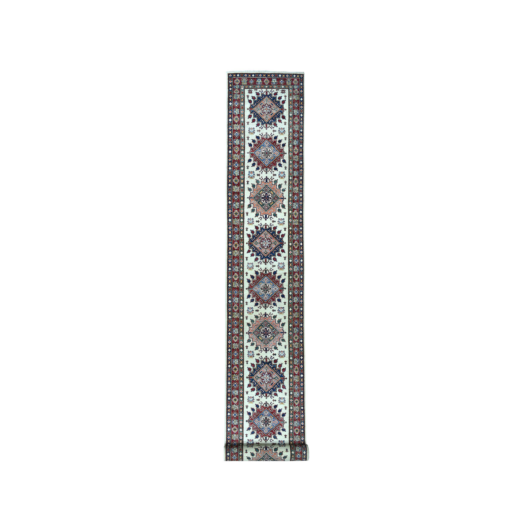 Caucasian Collection Hand Knotted Ivory Rug No: 1101644