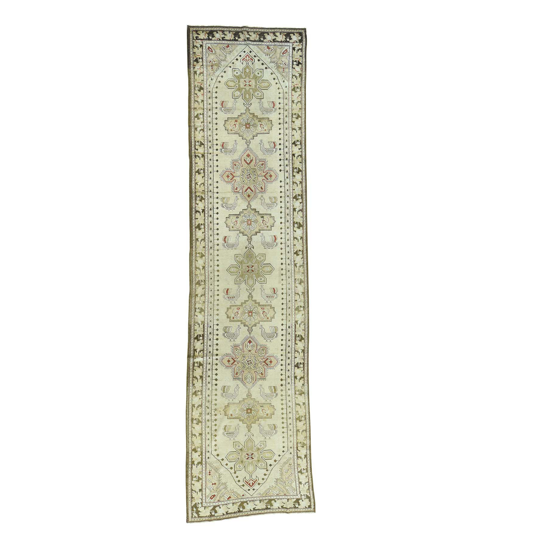 Antique Collection Hand Knotted Green Rug No: 166356