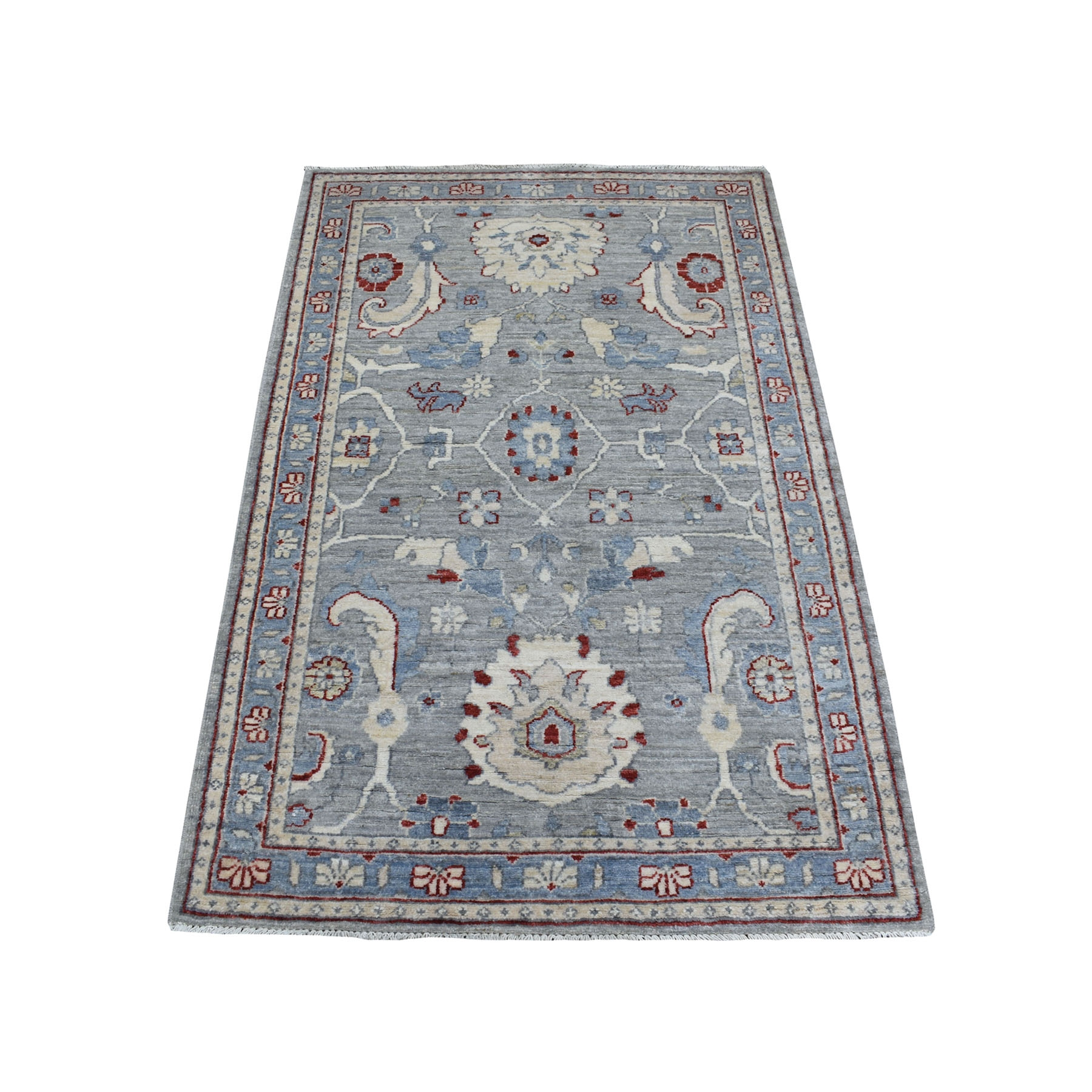 Agra And Turkish Collection Hand Knotted Grey Rug No: 1111724