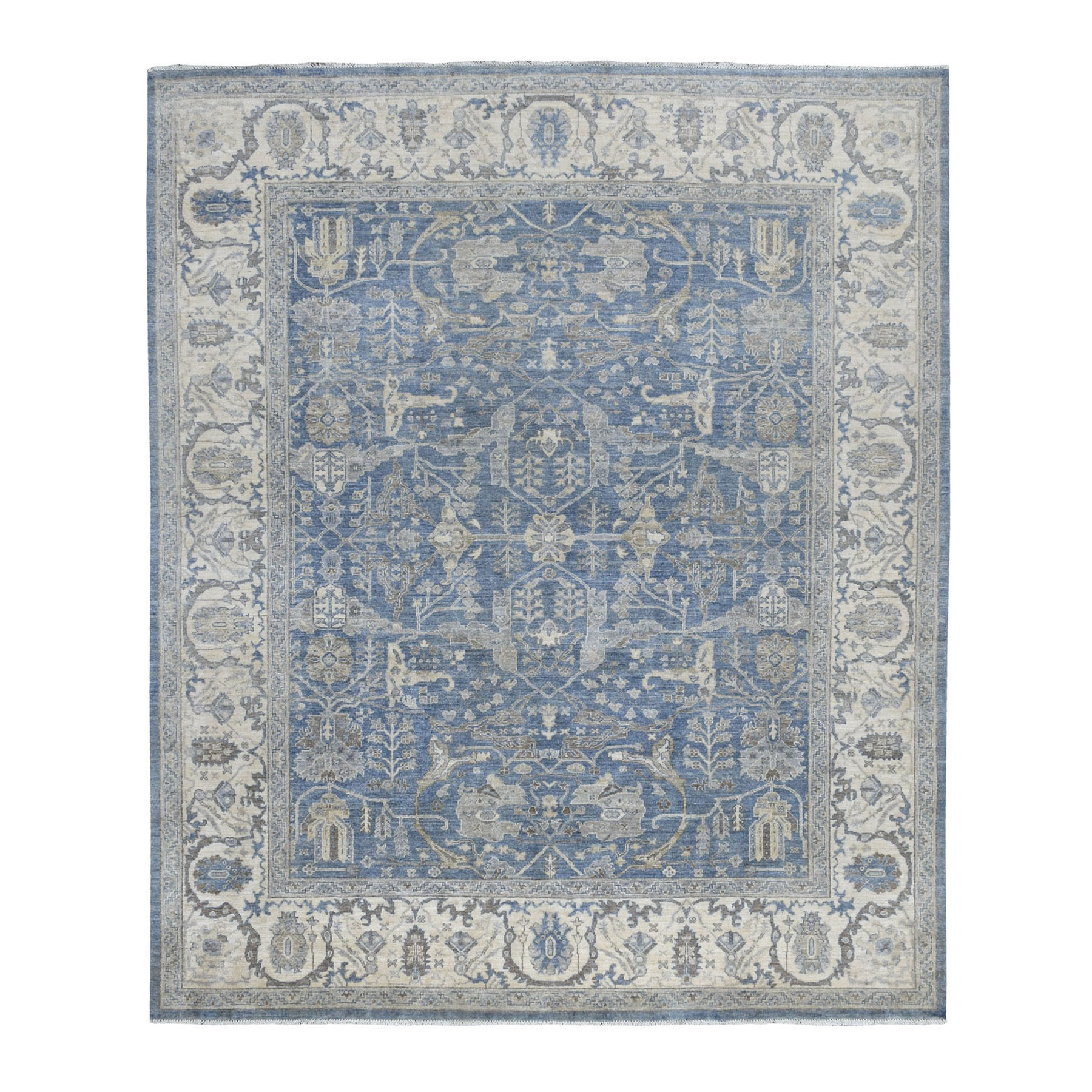 Agra And Turkish Collection Hand Knotted Blue Rug No: 1111730