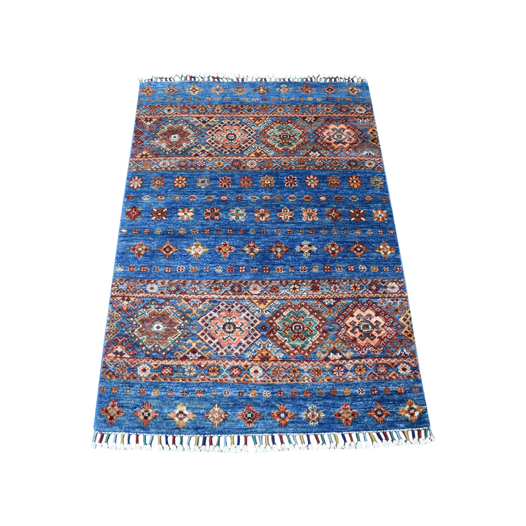 Caucasian Collection Hand Knotted Blue Rug No: 1111800