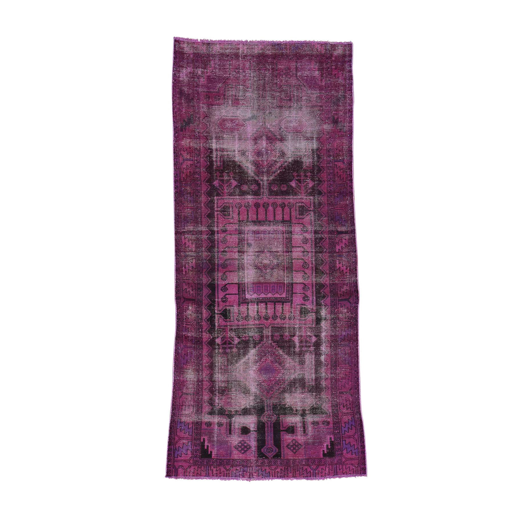 Fetneh Collection And Vintage Overdyed Collection Hand Knotted Pink Rug No: 0166484