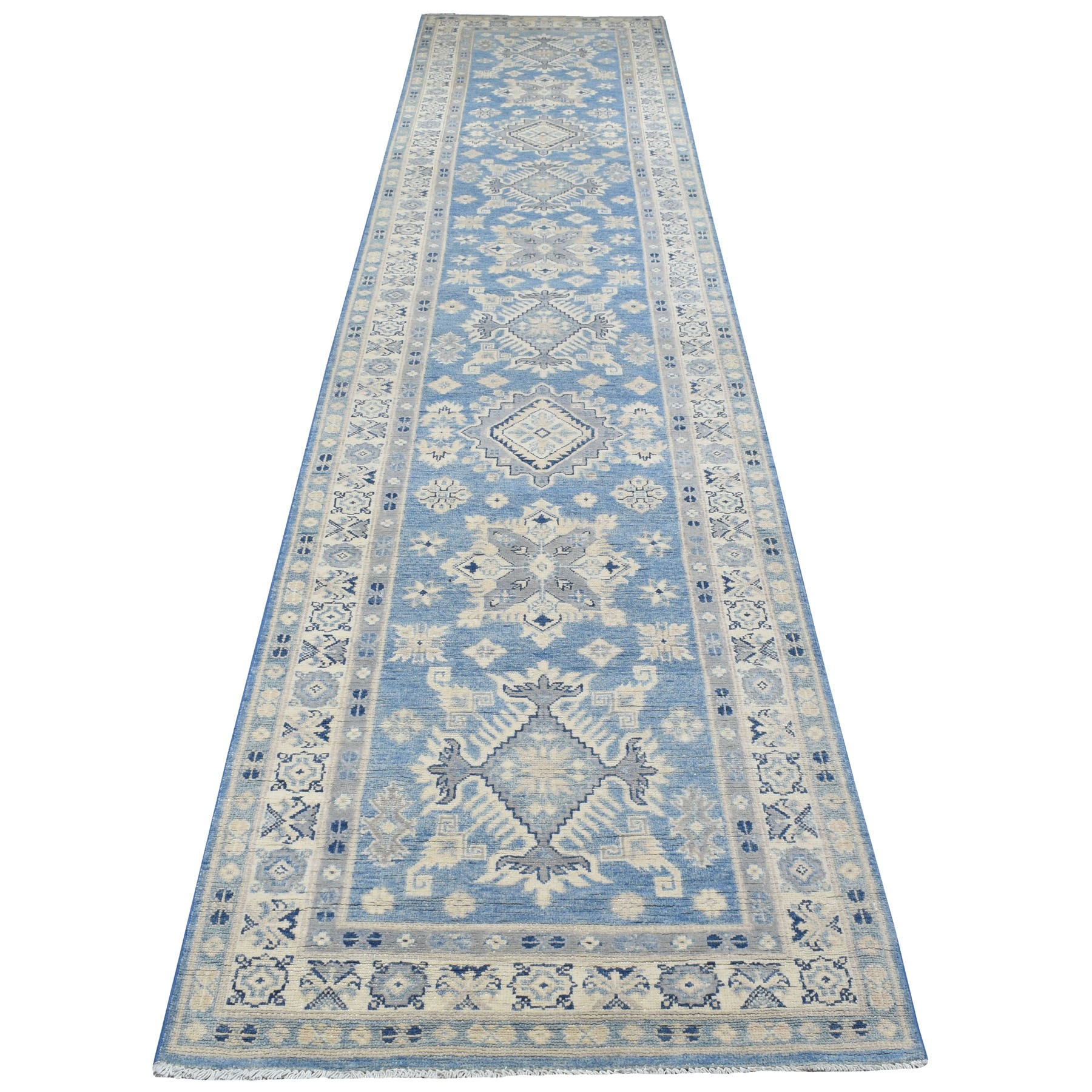 Caucasian Collection Hand Knotted Blue Rug No: 1111892