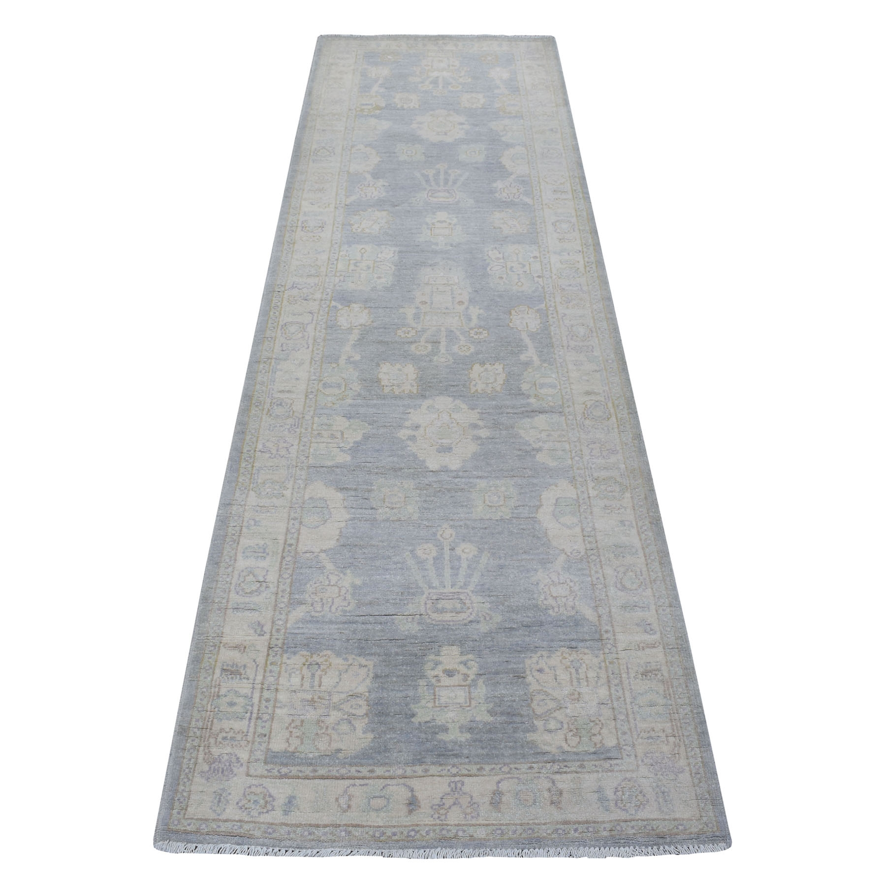 Agra And Turkish Collection Hand Knotted Grey Rug No: 1111870
