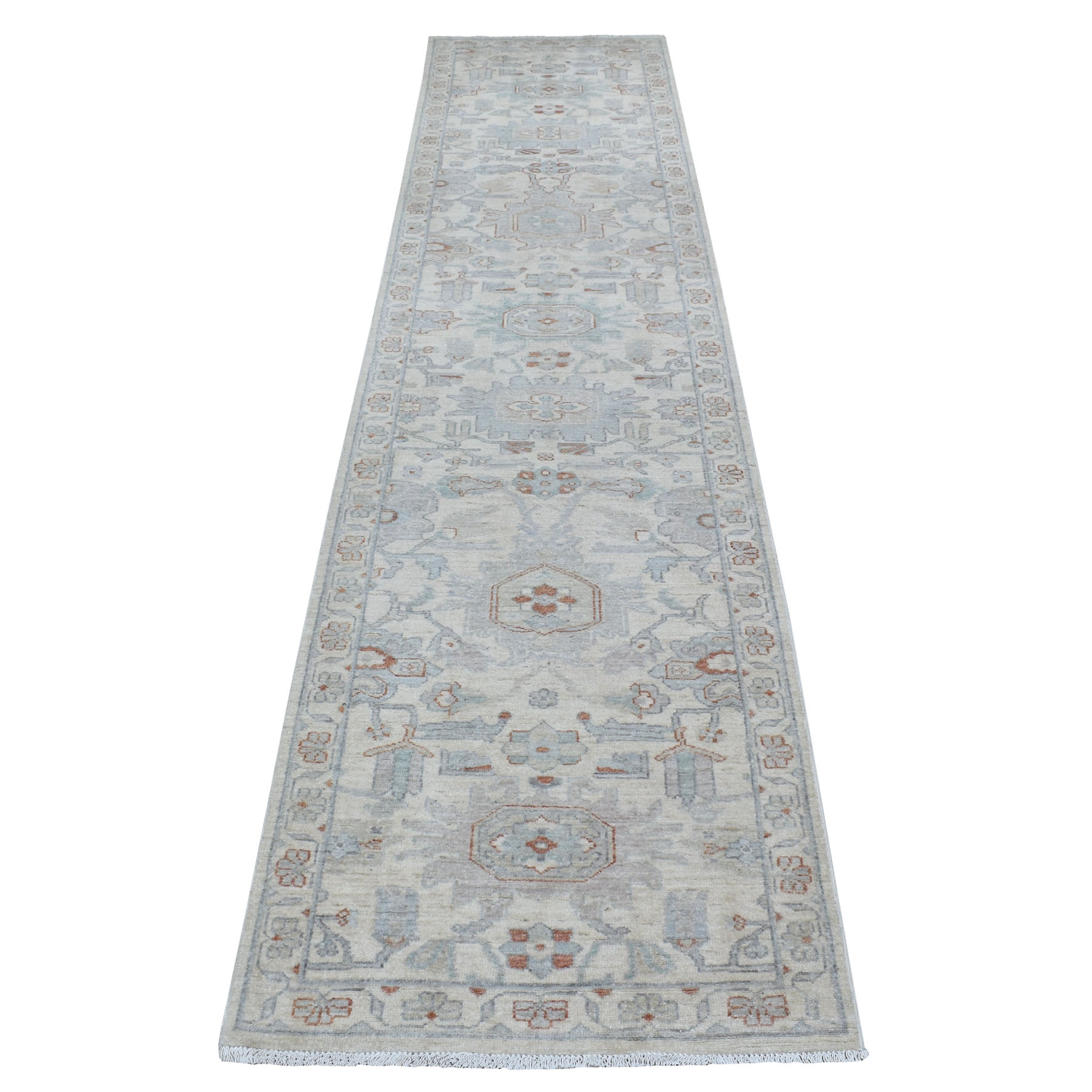 Agra And Turkish Collection Hand Knotted Ivory Rug No: 1111872
