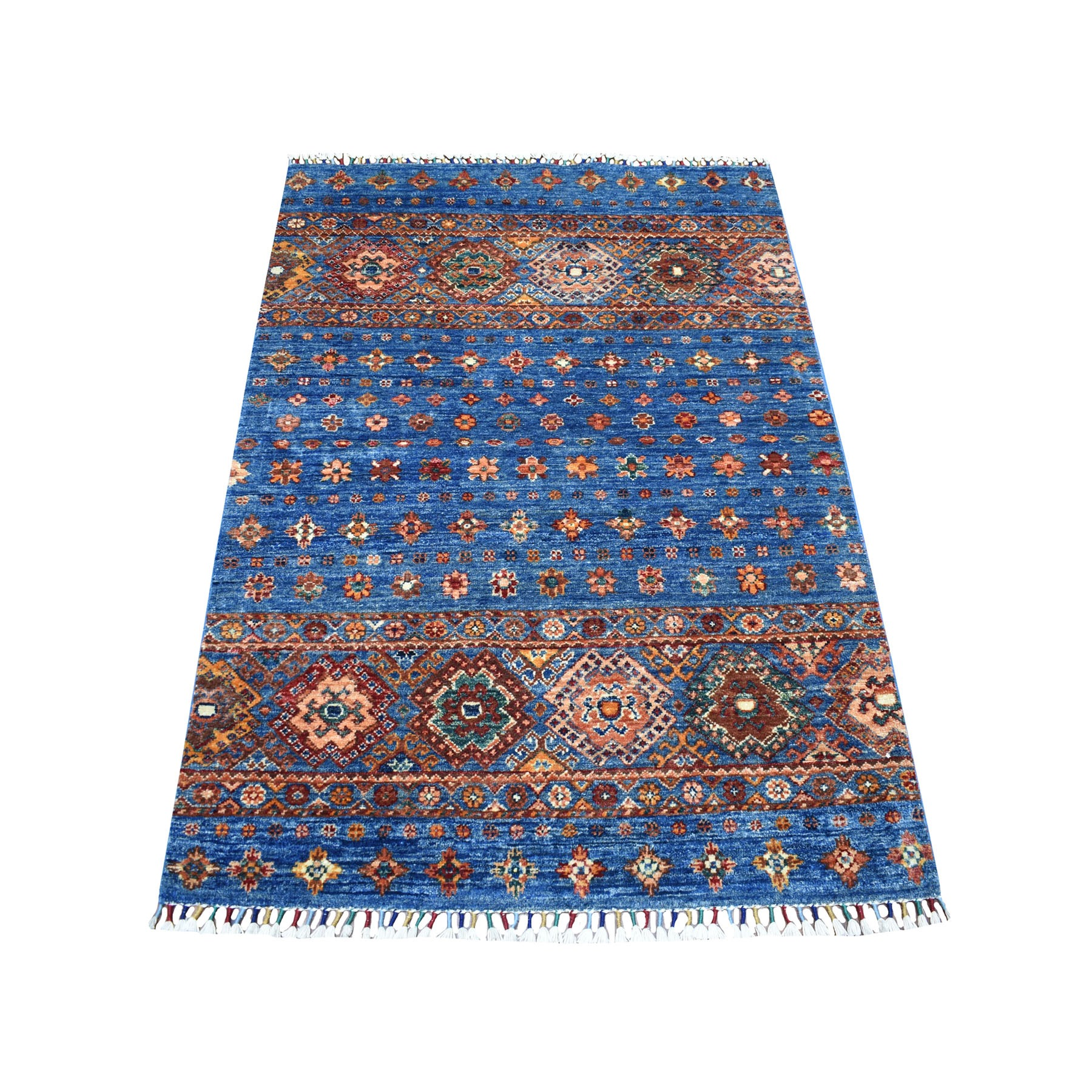 Caucasian Collection Hand Knotted Blue Rug No: 1111804