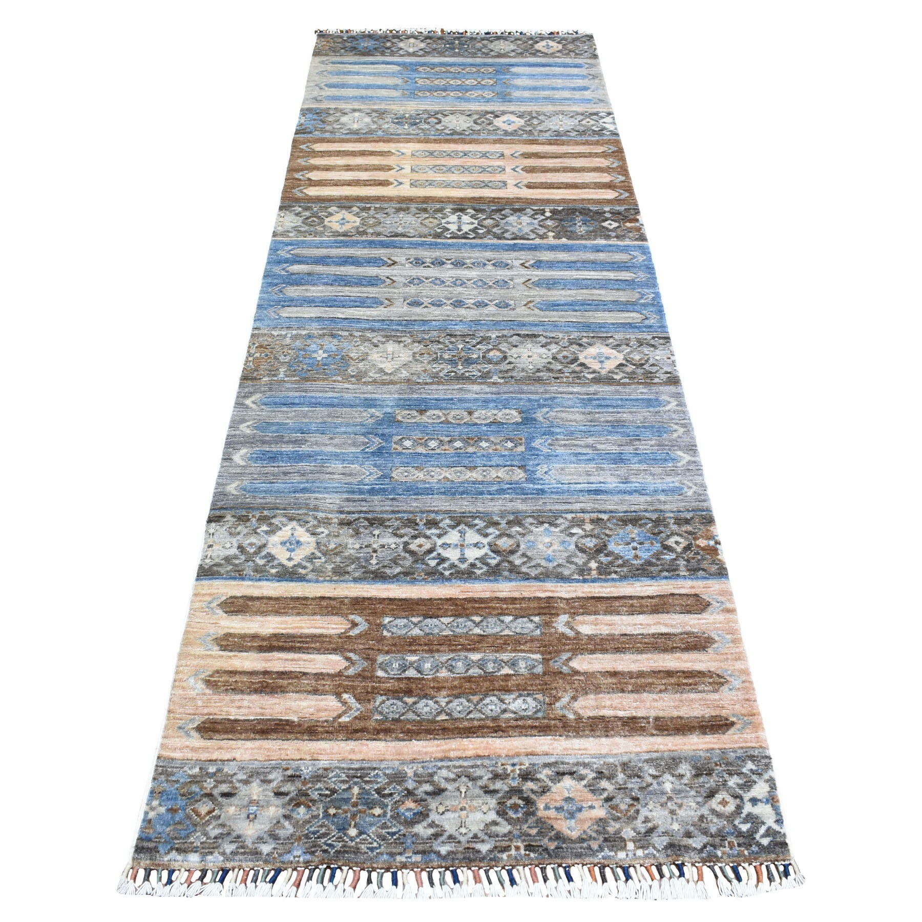 Caucasian Collection Hand Knotted Grey Rug No: 1111806