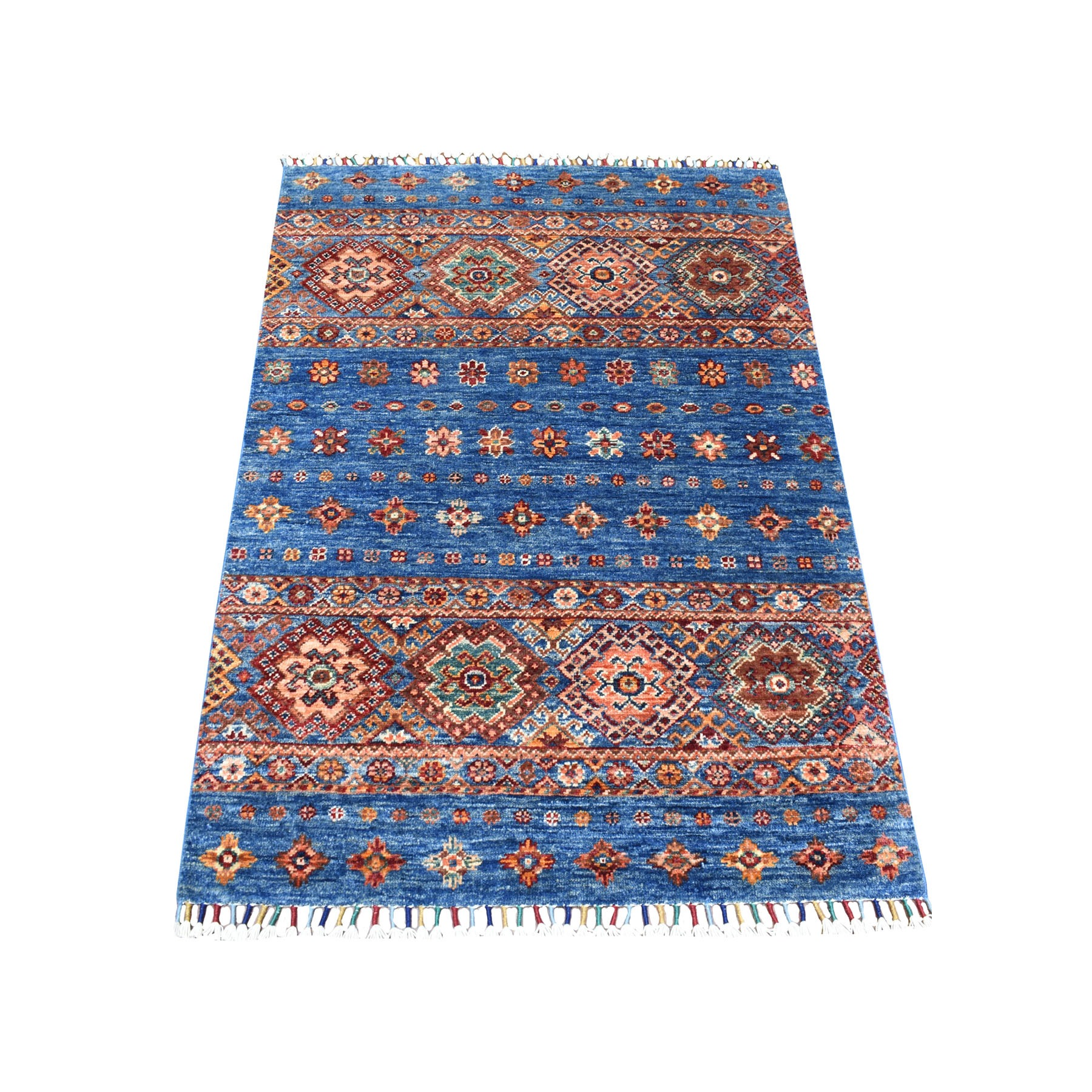 Caucasian Collection Hand Knotted Blue Rug No: 1111812