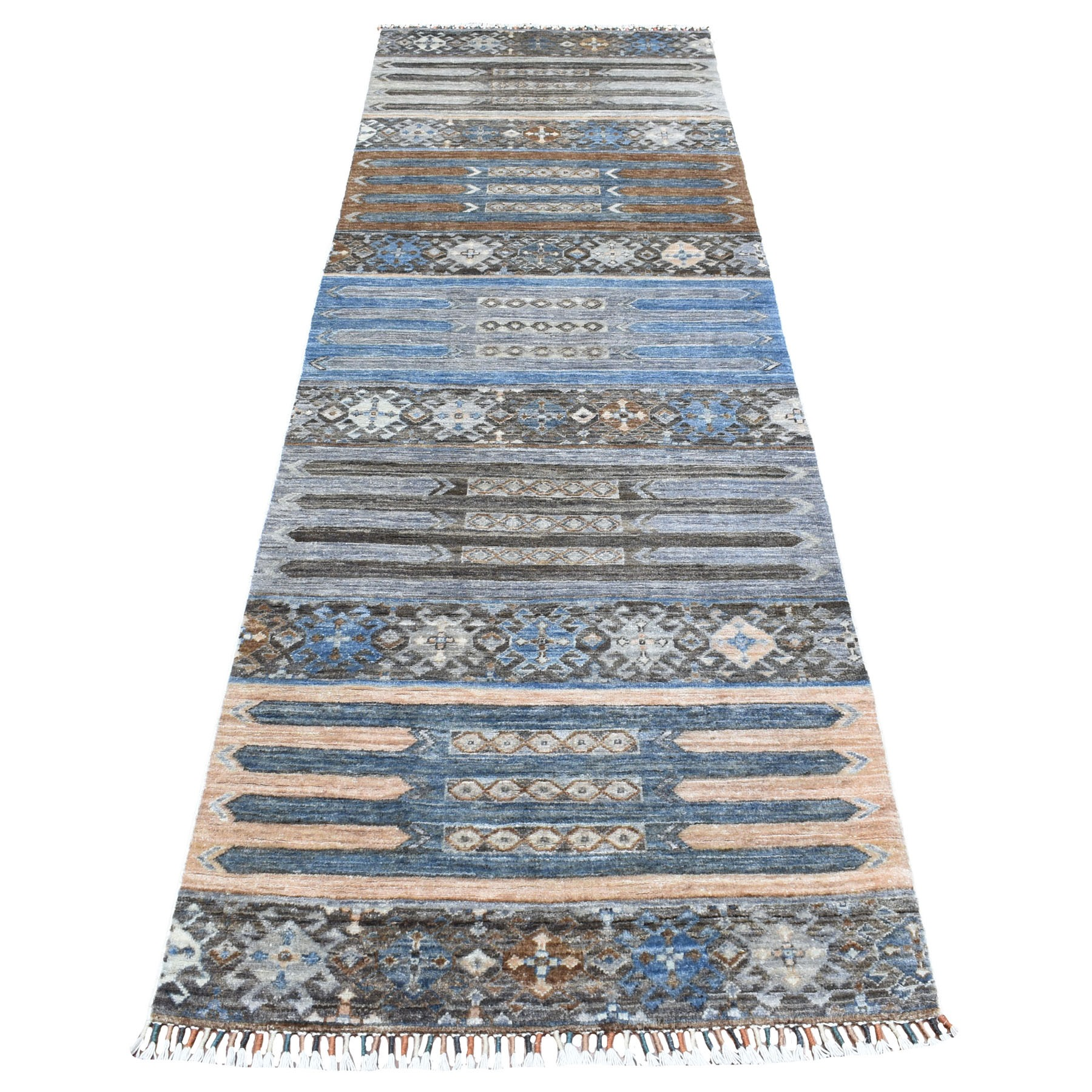 Caucasian Collection Hand Knotted Grey Rug No: 1111814