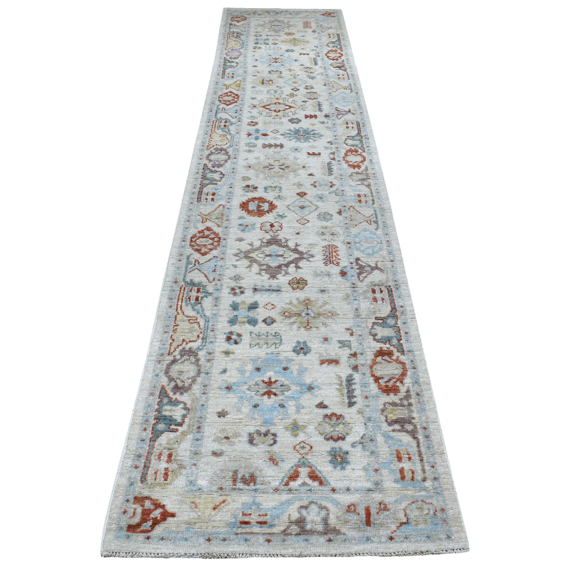 Agra And Turkish Collection Hand Knotted Ivory Rug No: 1111054