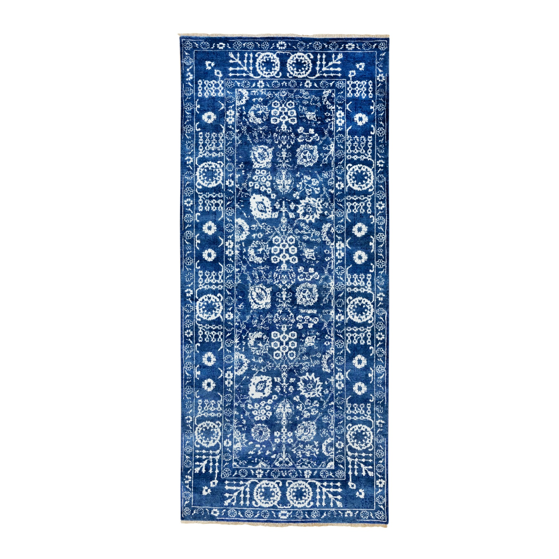 Transitional Hand Knotted Blue Rug No: 1117056