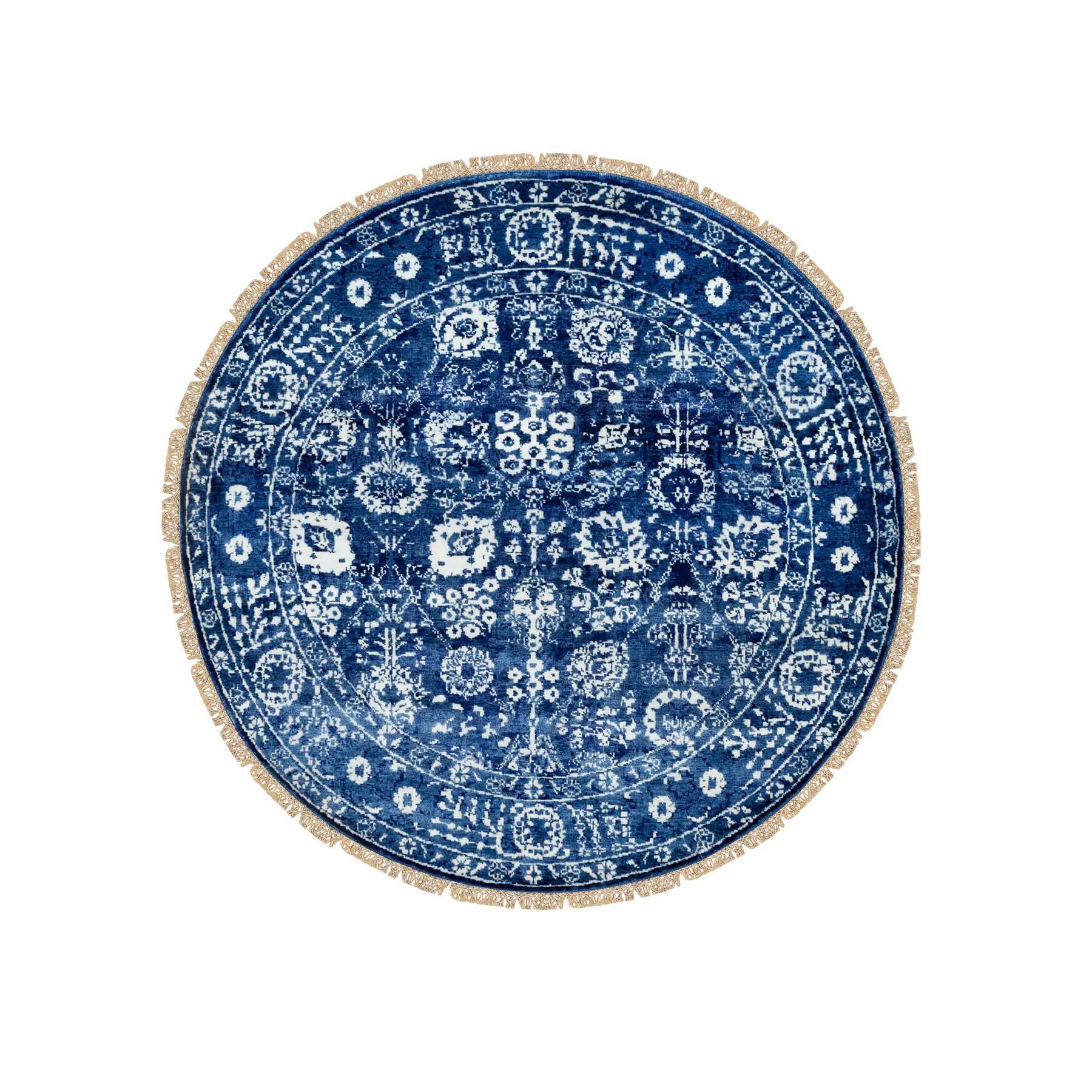 Transitional Hand Knotted Blue Rug No: 1117064