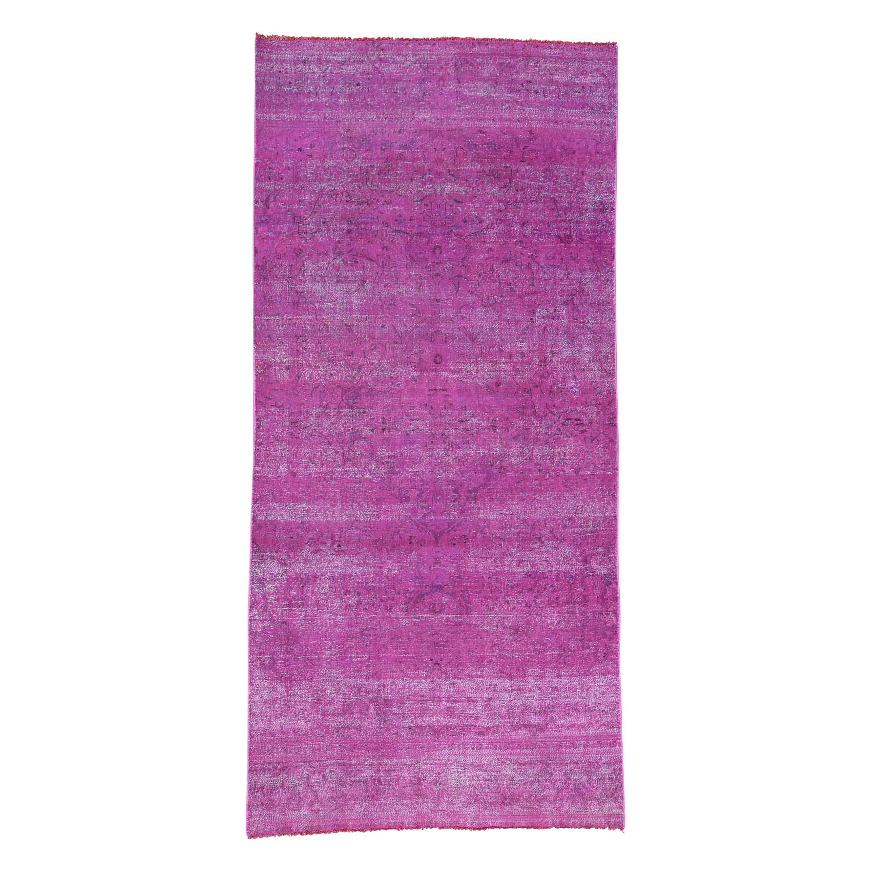 Fetneh Collection And Vintage Overdyed Collection Hand Knotted Pink Rug No: 166638
